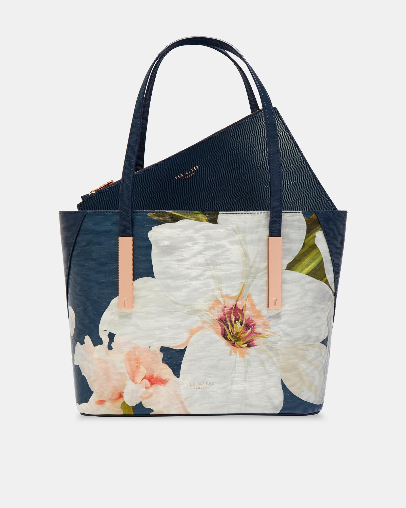 784e0531bf88 Ted Baker Chatsworth Bloom Shopper Bag in Blue - Lyst