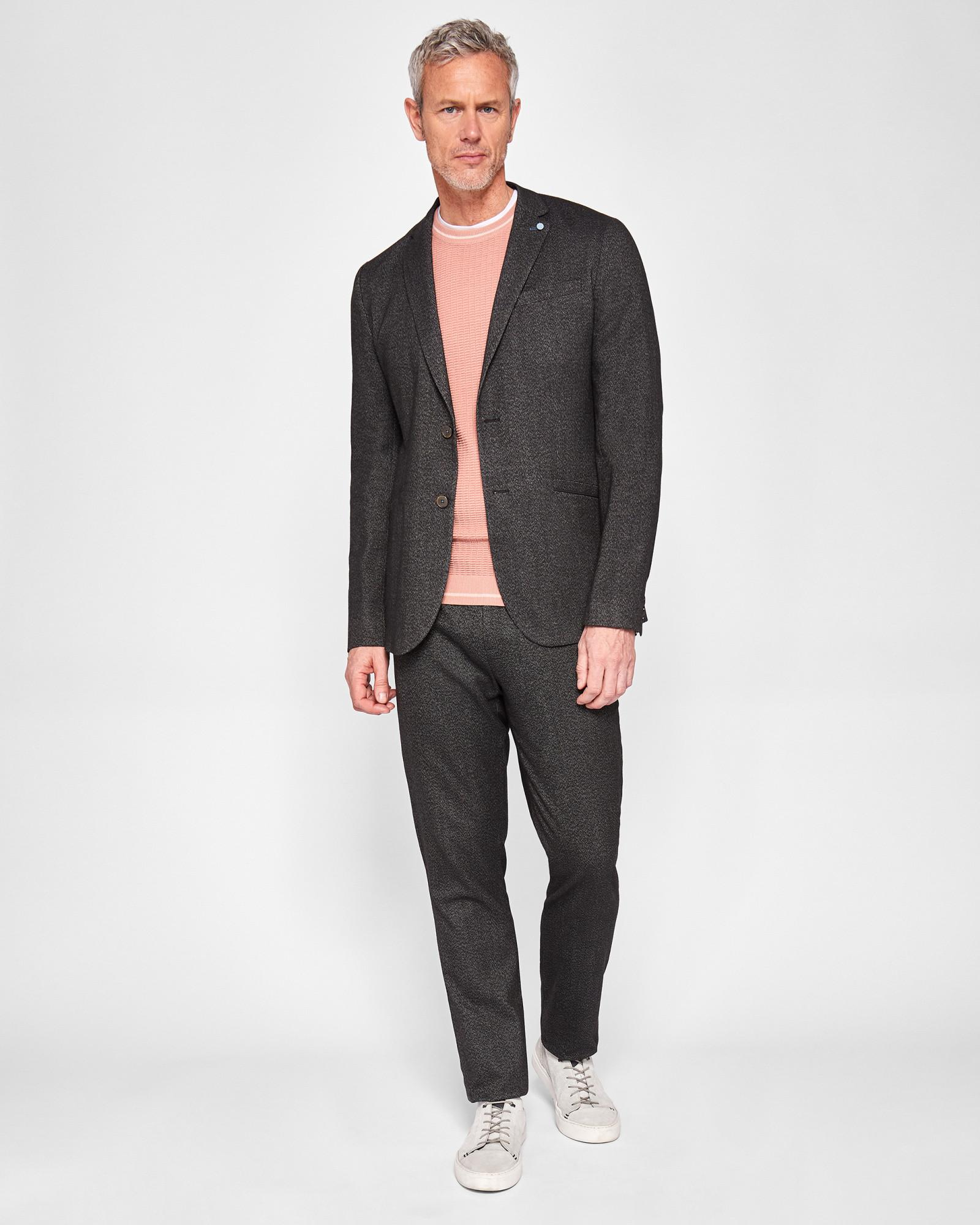 9e5a1bdc5 Lyst - Ted Baker Tall Semi Plain Jacket in Gray for Men