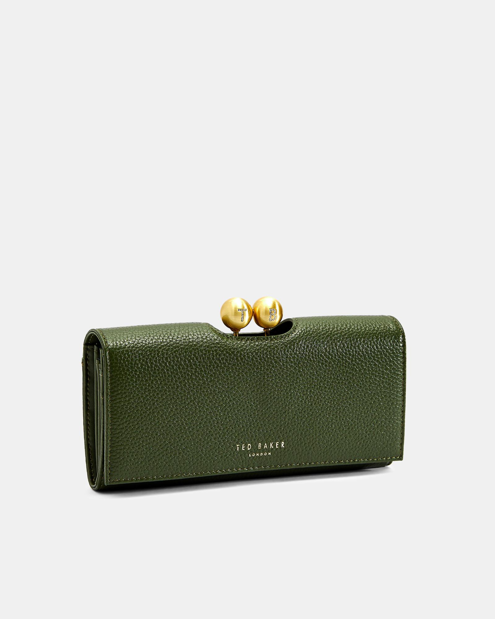 e2ba6166bbf2 Ted Baker Scripted Leather Bobble Matinee Purse in Green - Lyst