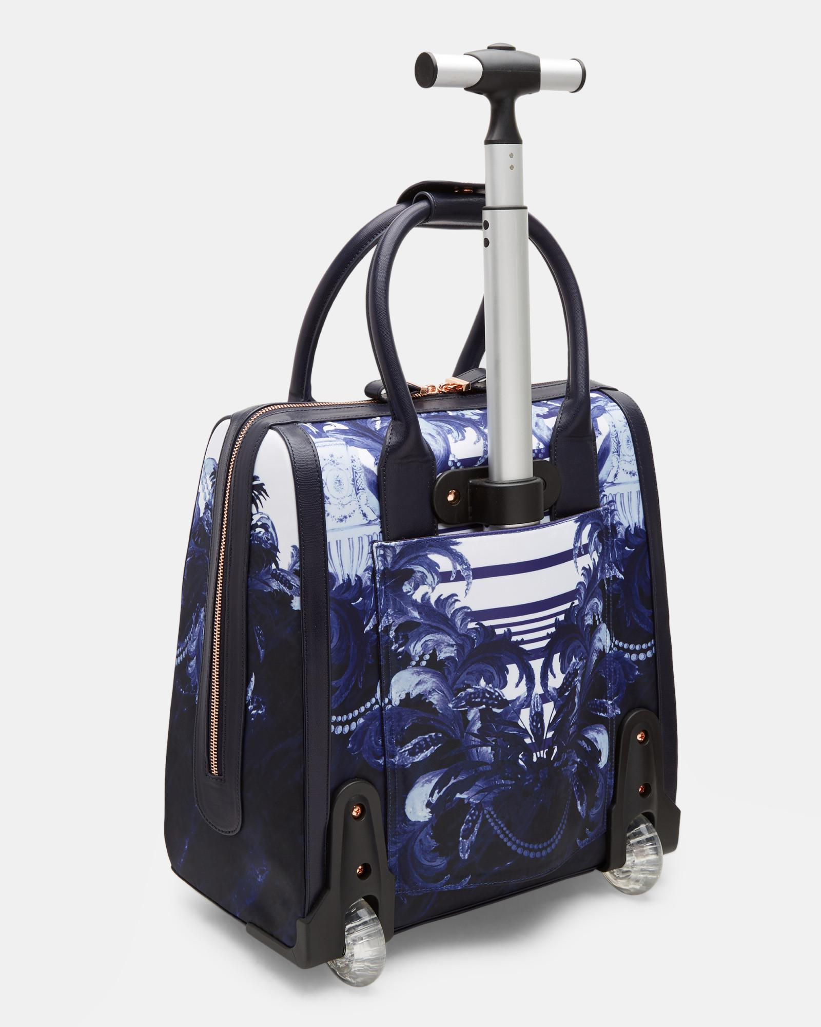 8f1357b6757f Ted Baker Persian Blue Print Travel Bag in Blue - Lyst