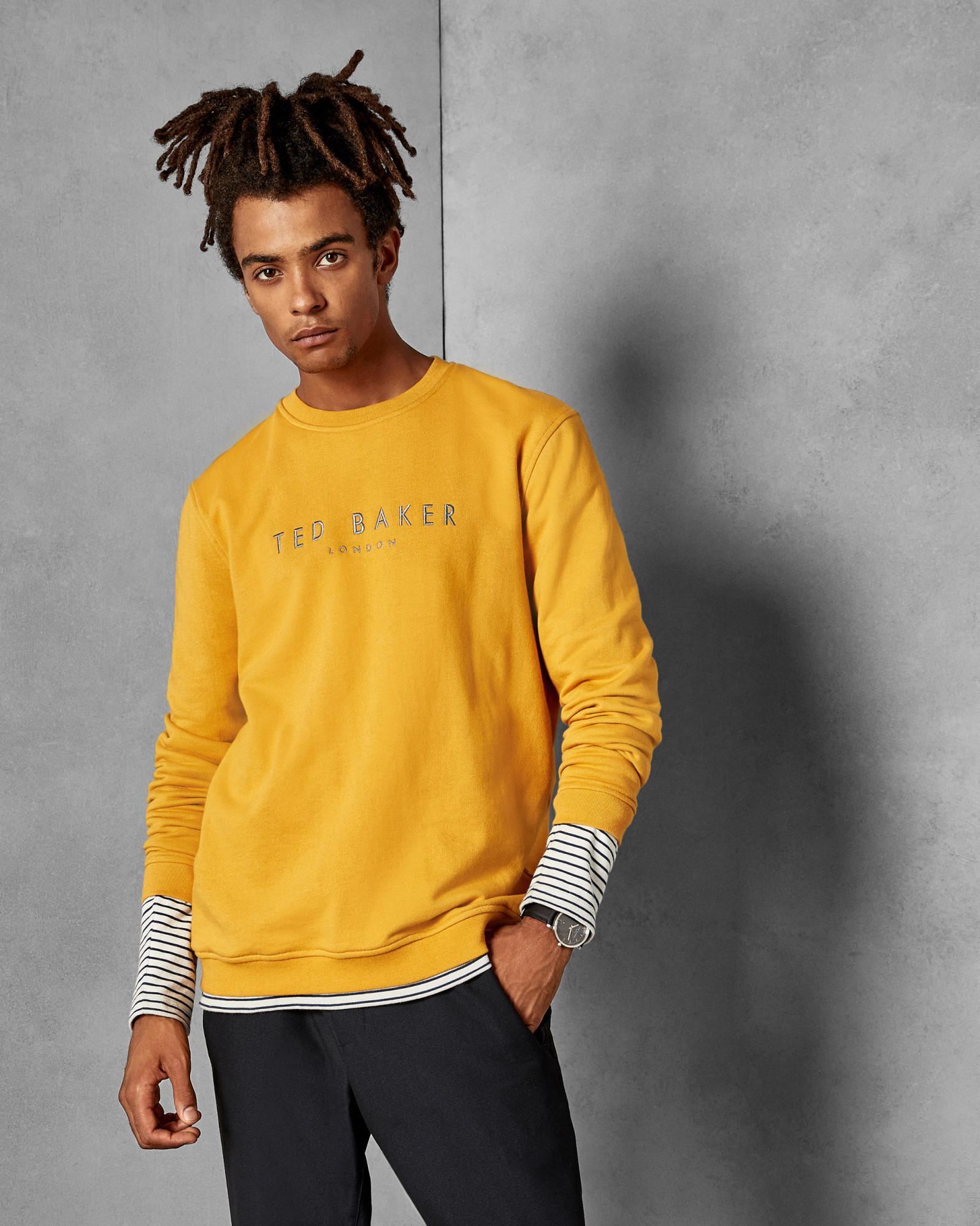 e6ed8529344d4 Ted Baker - Yellow Branded Anniversary Sweatshirt for Men - Lyst. View  fullscreen
