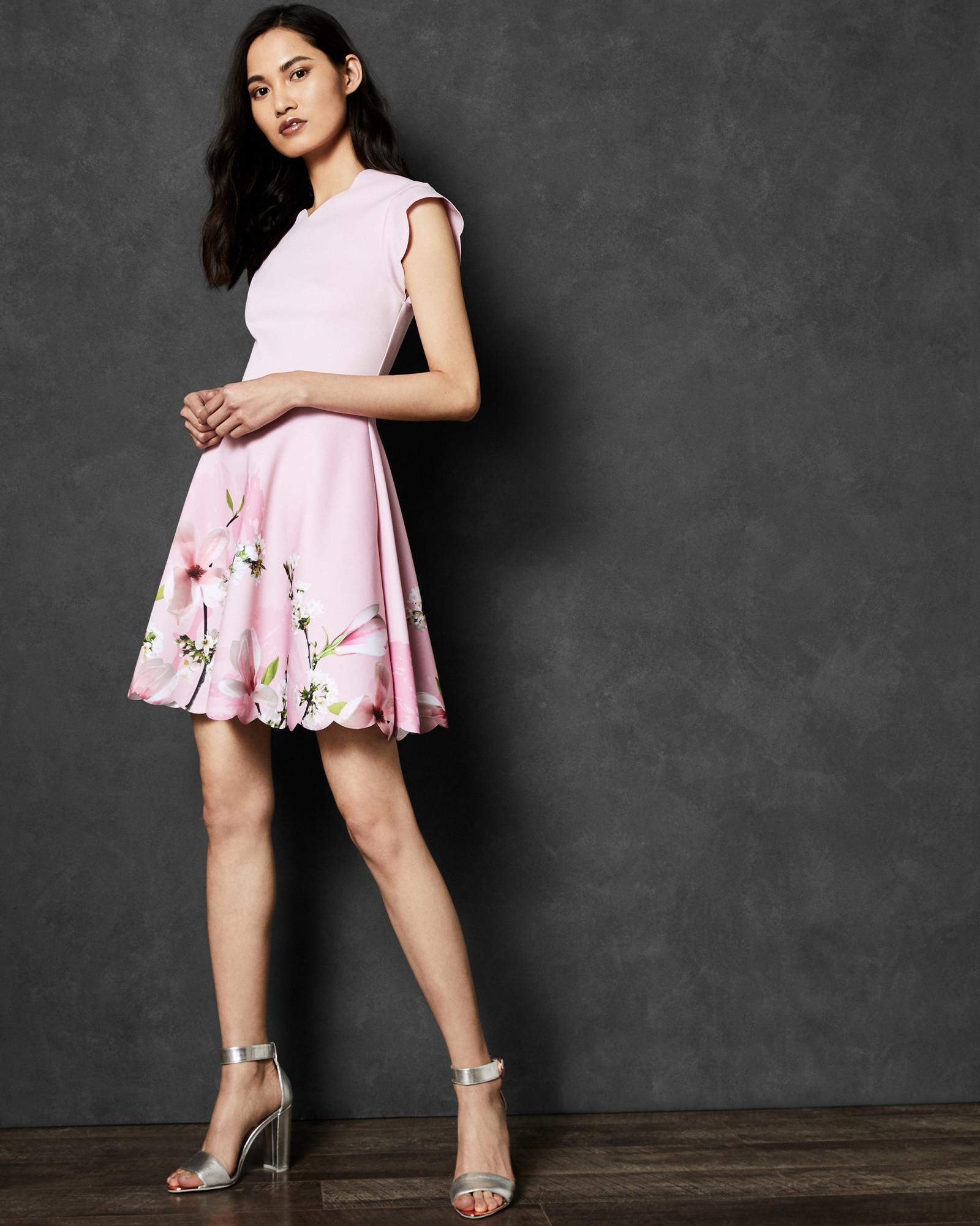 7521d611cd Ted Baker Harmony Skater Dress in Pink - Save 45.669291338582674% - Lyst