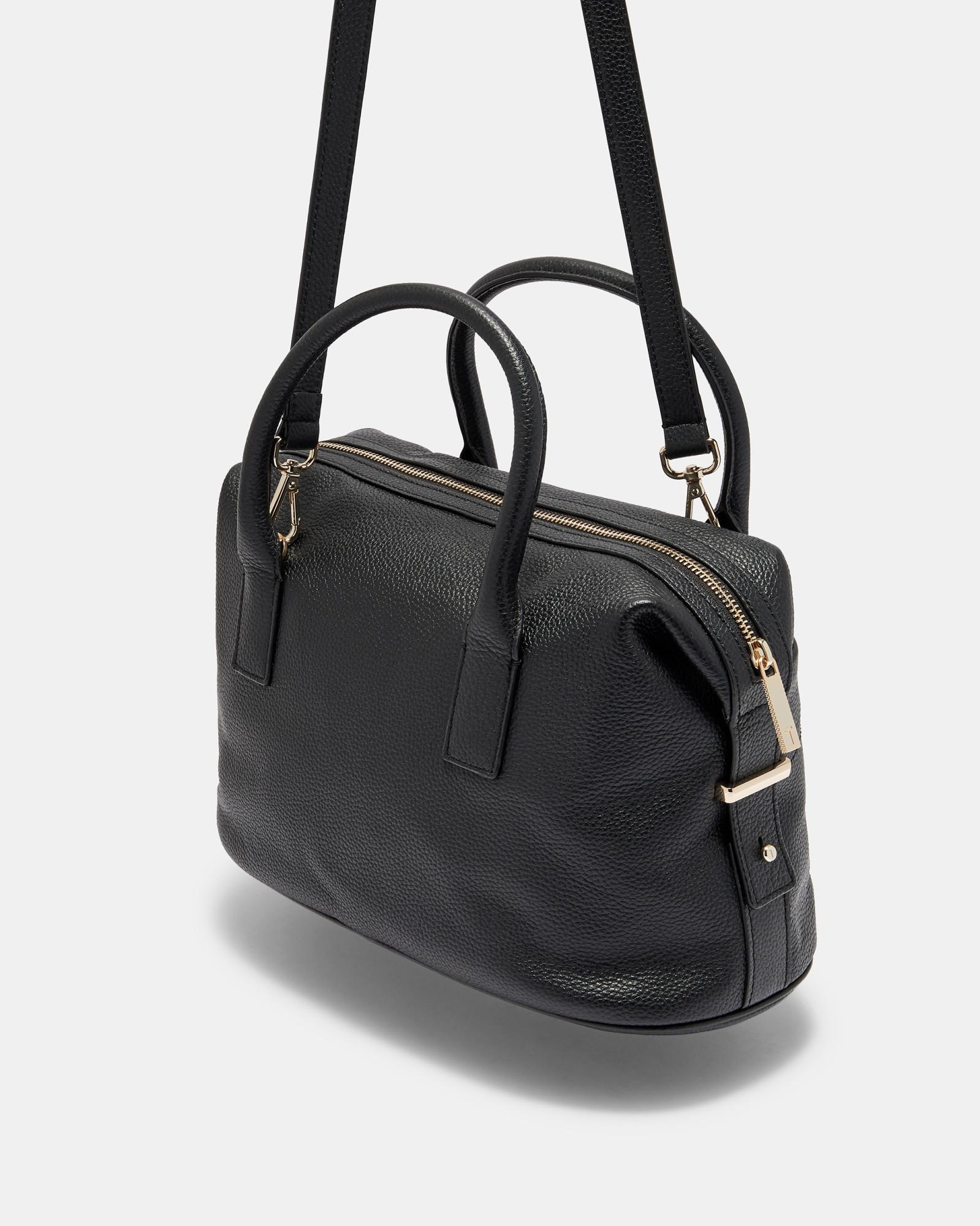 2ea3d4505e3a75 Lyst - Ted Baker Bow Detail Large Leather Bowler Bag in Black