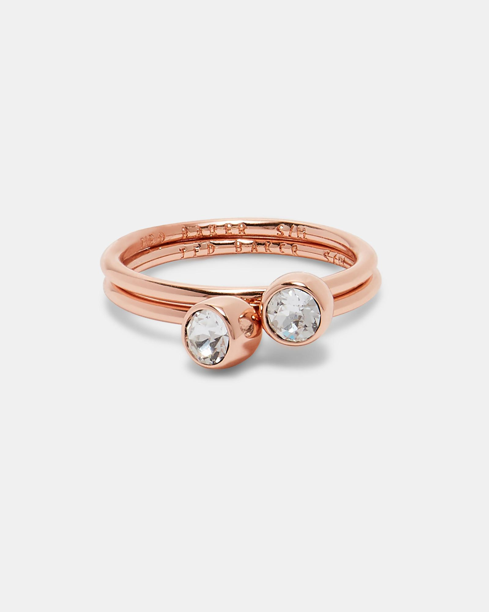Ted Baker Crystal Stacking Ring