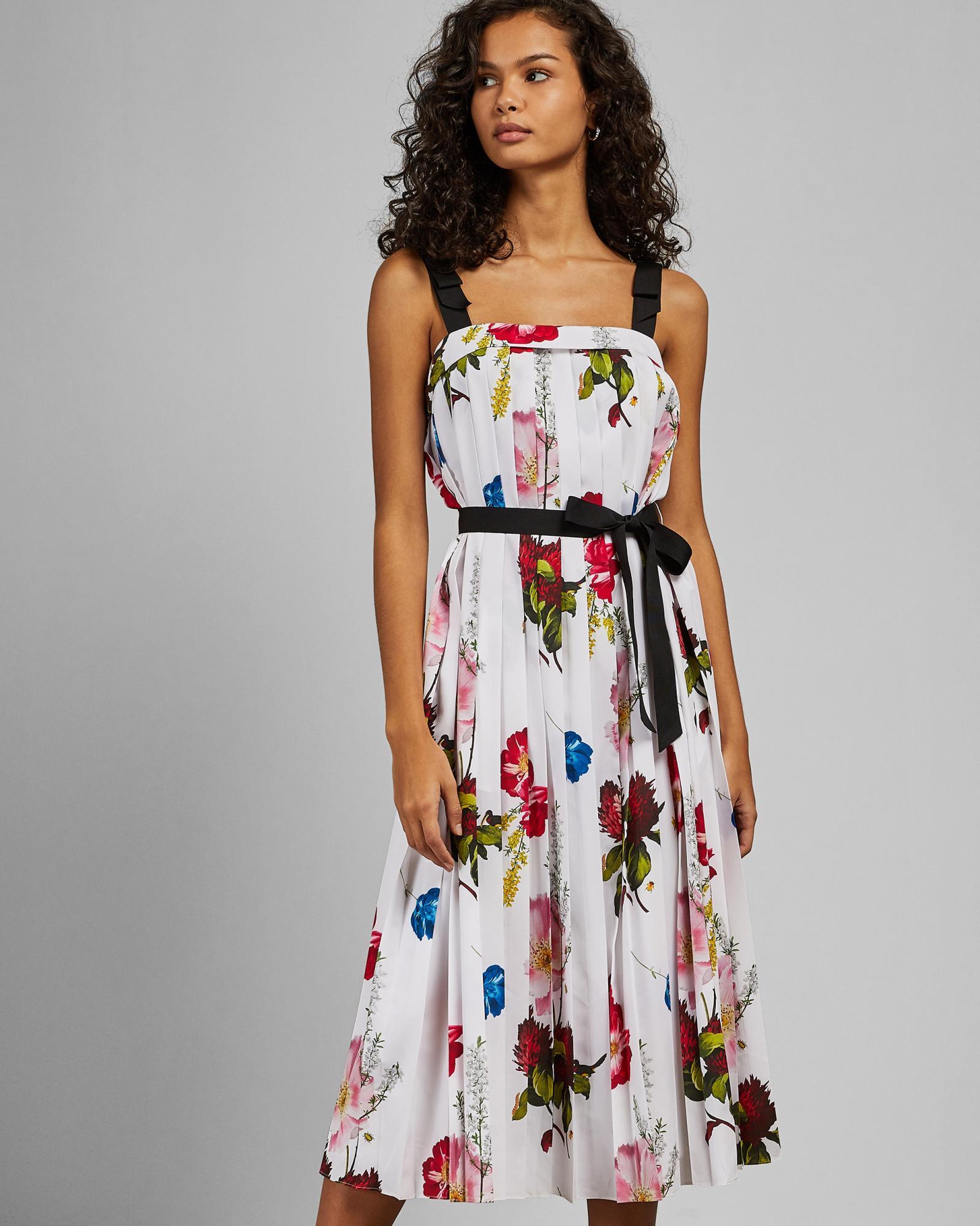 90535ffdfcb7 Ted Baker Berry Sundae Tie Strap Dress in White - Lyst