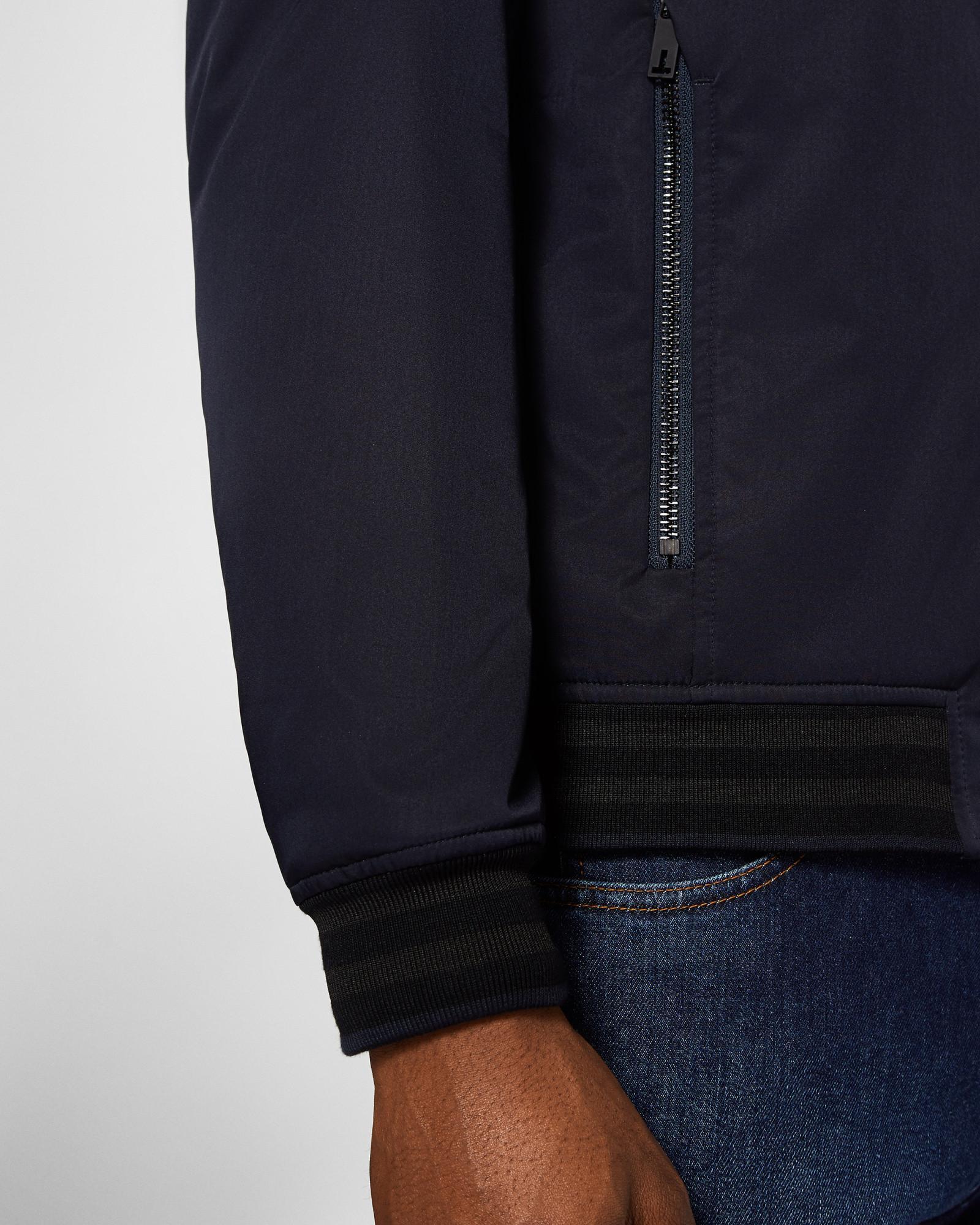 Ted Baker Synthetic Funnel Neck Bomber Jacket in Navy (Blue) for Men
