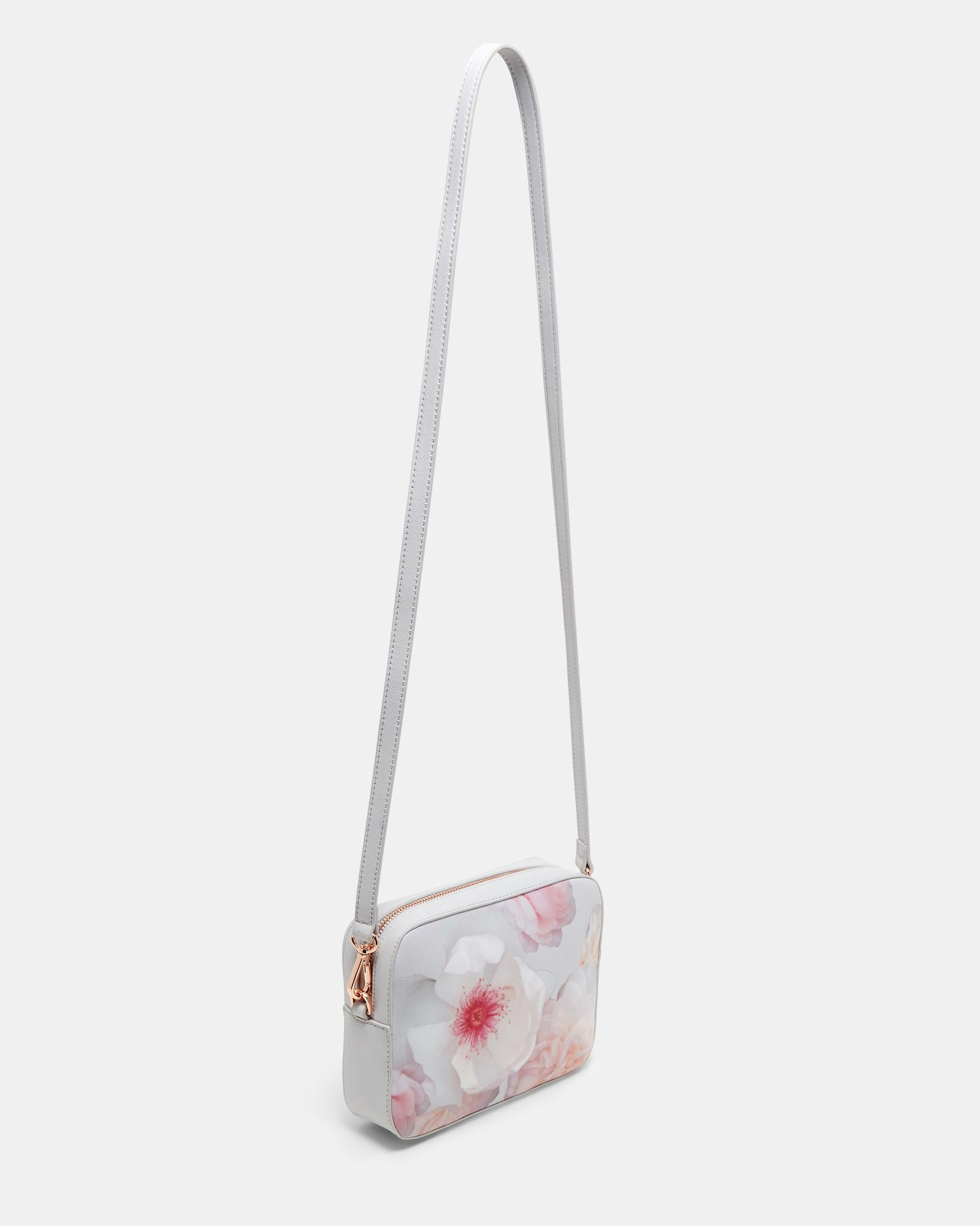 Ted Baker Cotton Chelsea Grey Cross Body Bag in Light Grey (Grey)