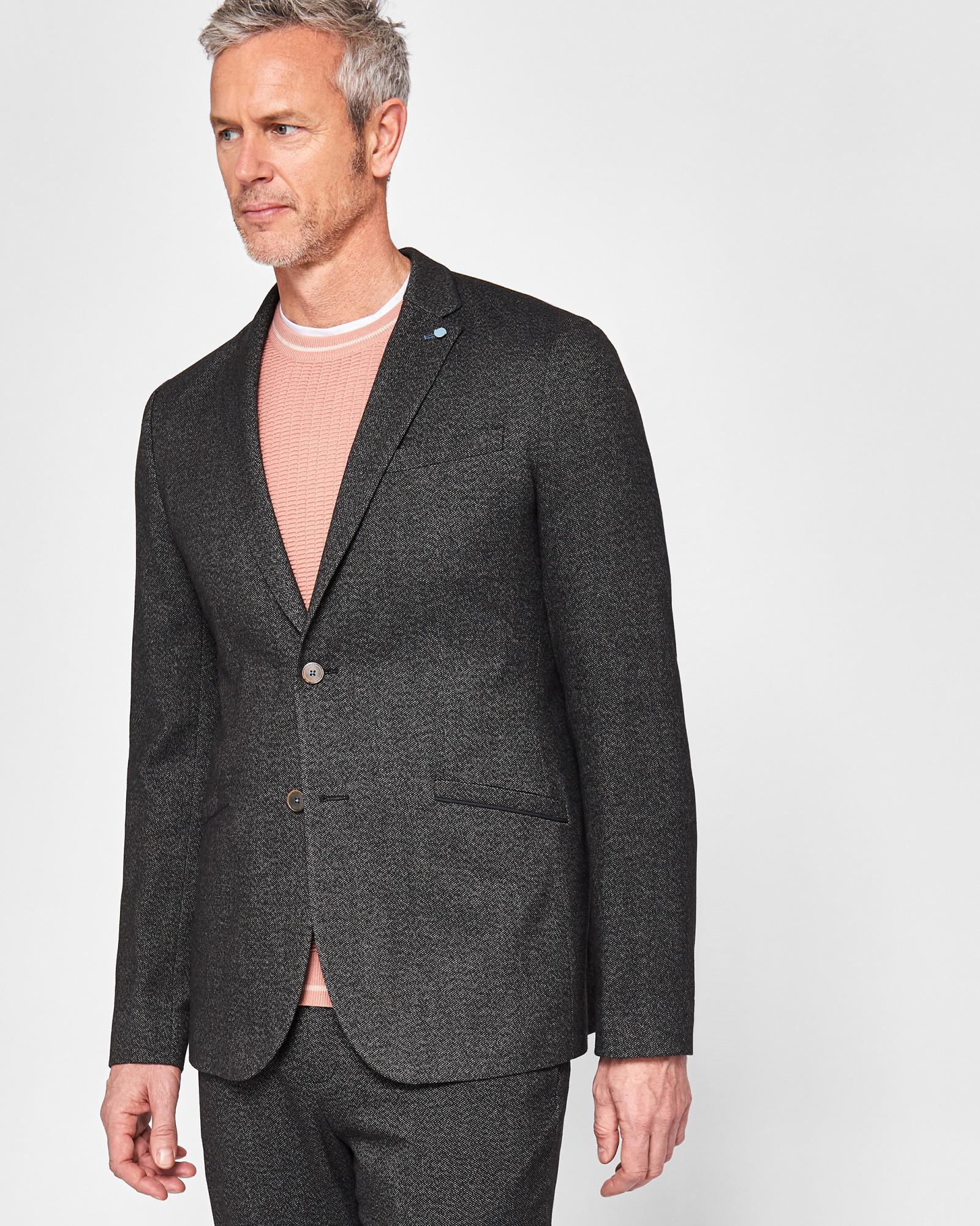 8c2985146 Ted Baker Tall Semi Plain Jacket in Gray for Men - Lyst