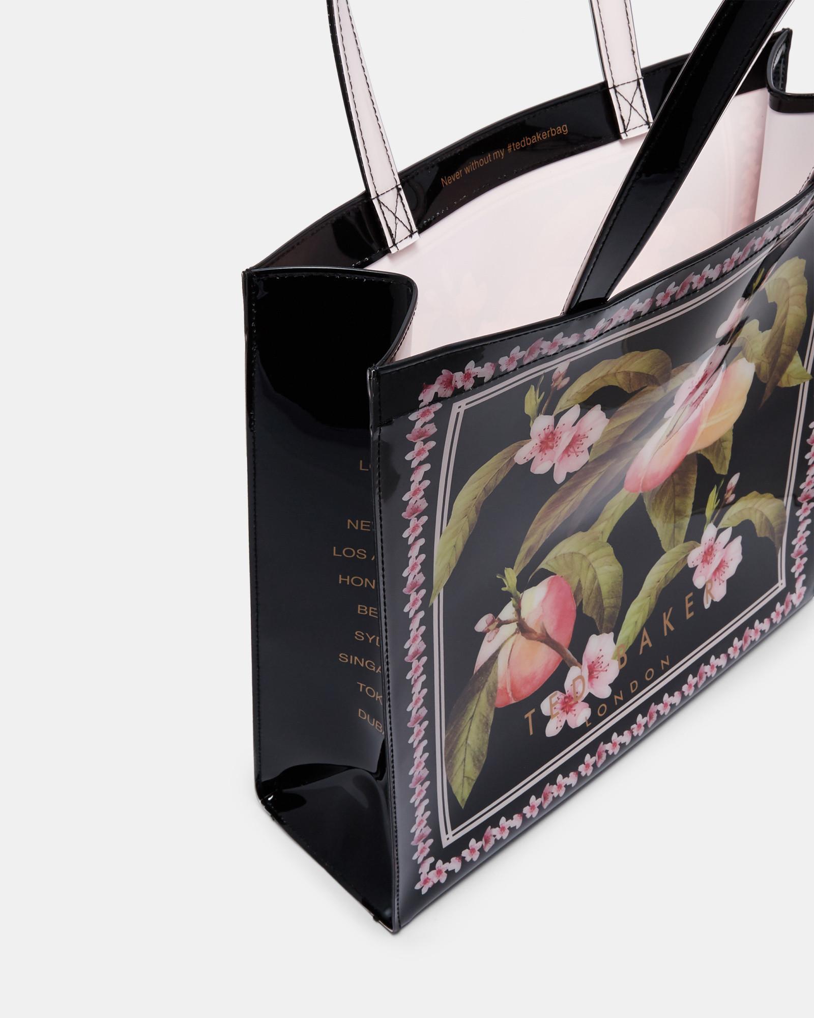 Ted Baker Amacon Peach Blossom Small Icon Bag (black)