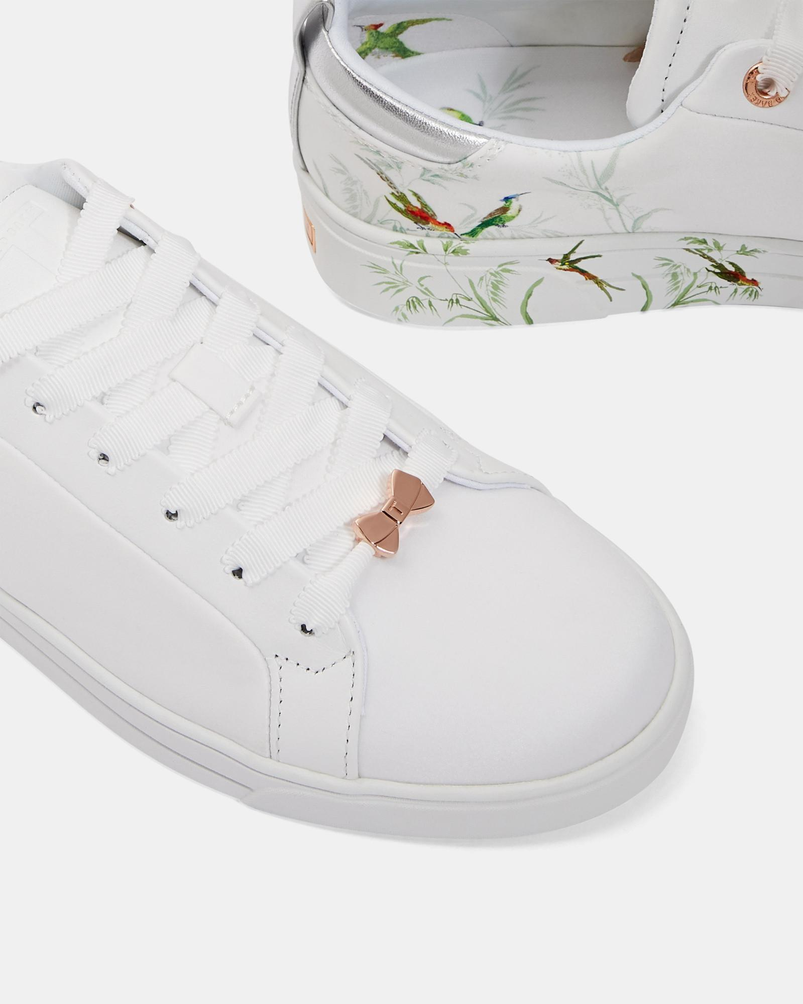 Ted Baker Printed Tennis Trainers in
