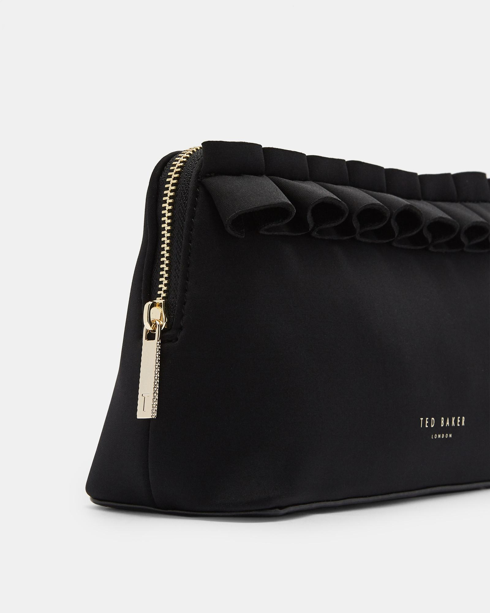 a4503918dcbb1f Lyst - Ted Baker Ruffle Detail Make Up Bag in Black