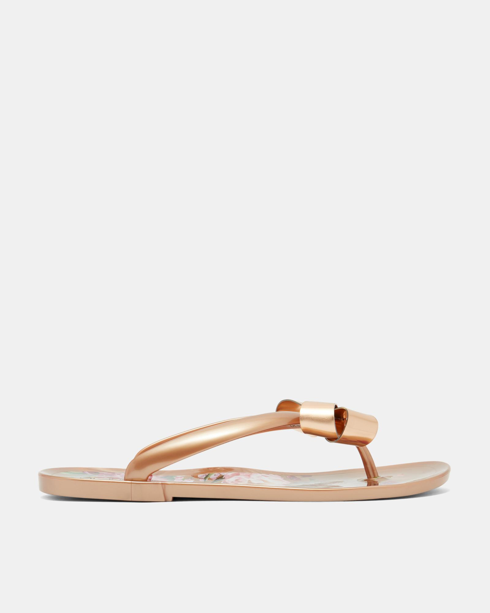 7a2fa756a6ae6 Ted Baker Printed Sole Flip Flop in Pink - Lyst