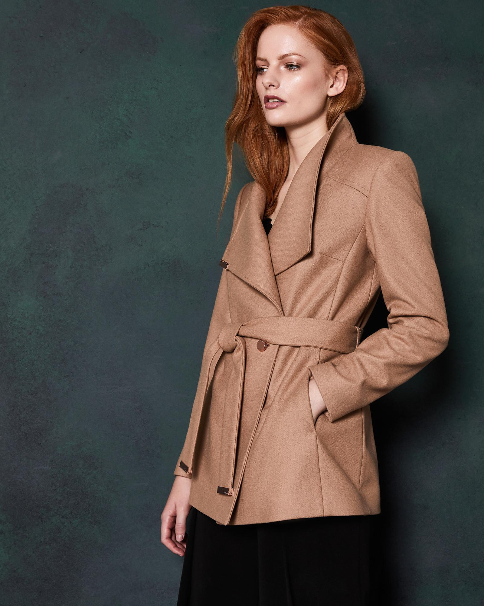 48b2a45e327b68 Ted Baker. Women s Short Wool Wrap Coat