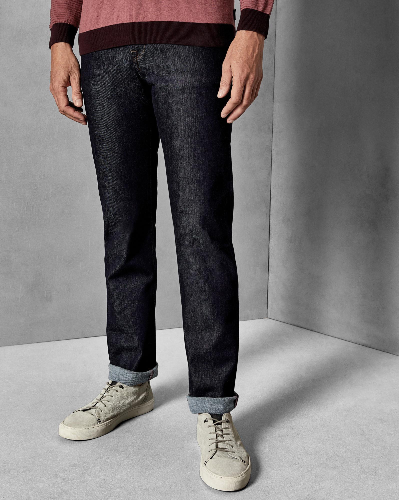 09d923bb5f05 Ted Baker Original Fit Tall Brushed Denim Jeans in Blue for Men - Lyst