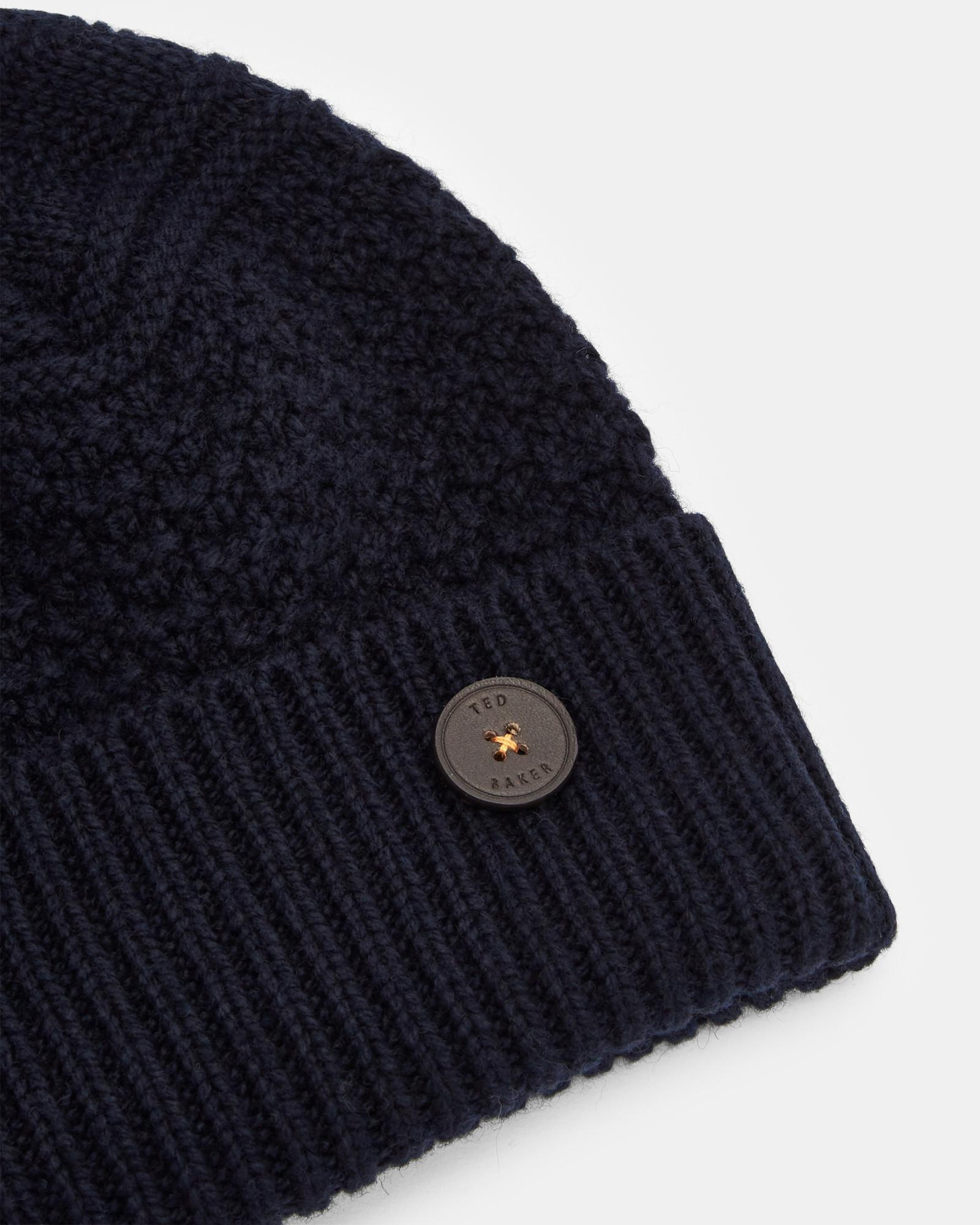 605fd05c7d3 Lyst - Ted Baker Multi Stitch Cashmere Hat in Blue for Men