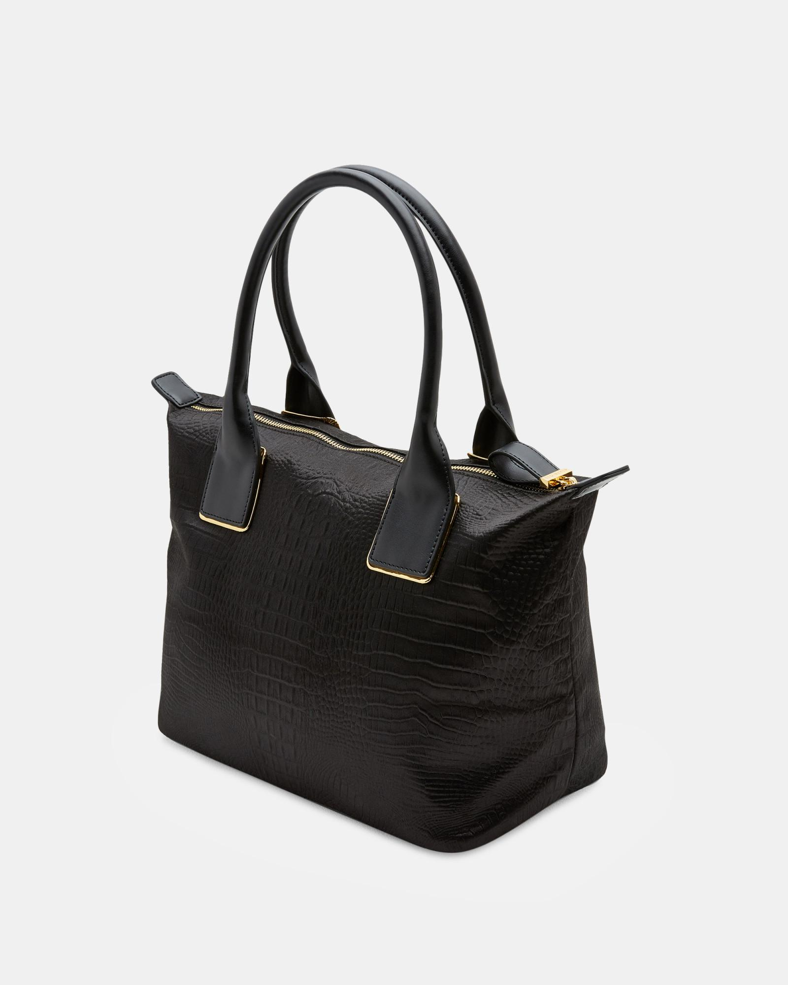 Ted Baker Exotic Small Tote Bag in Black