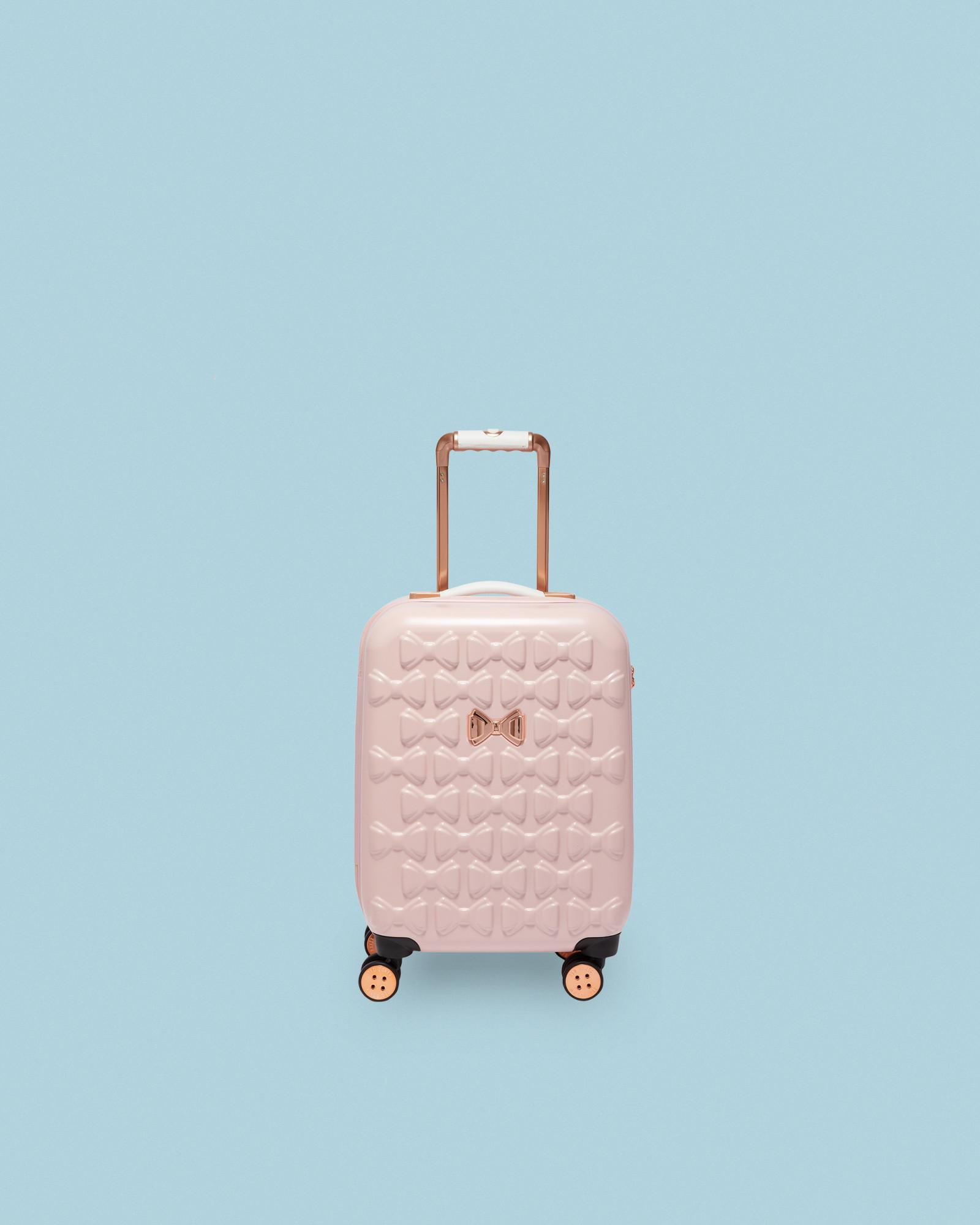 feca8430171d8 Lyst - Ted Baker Bow Detail Small Suitcase in Pink