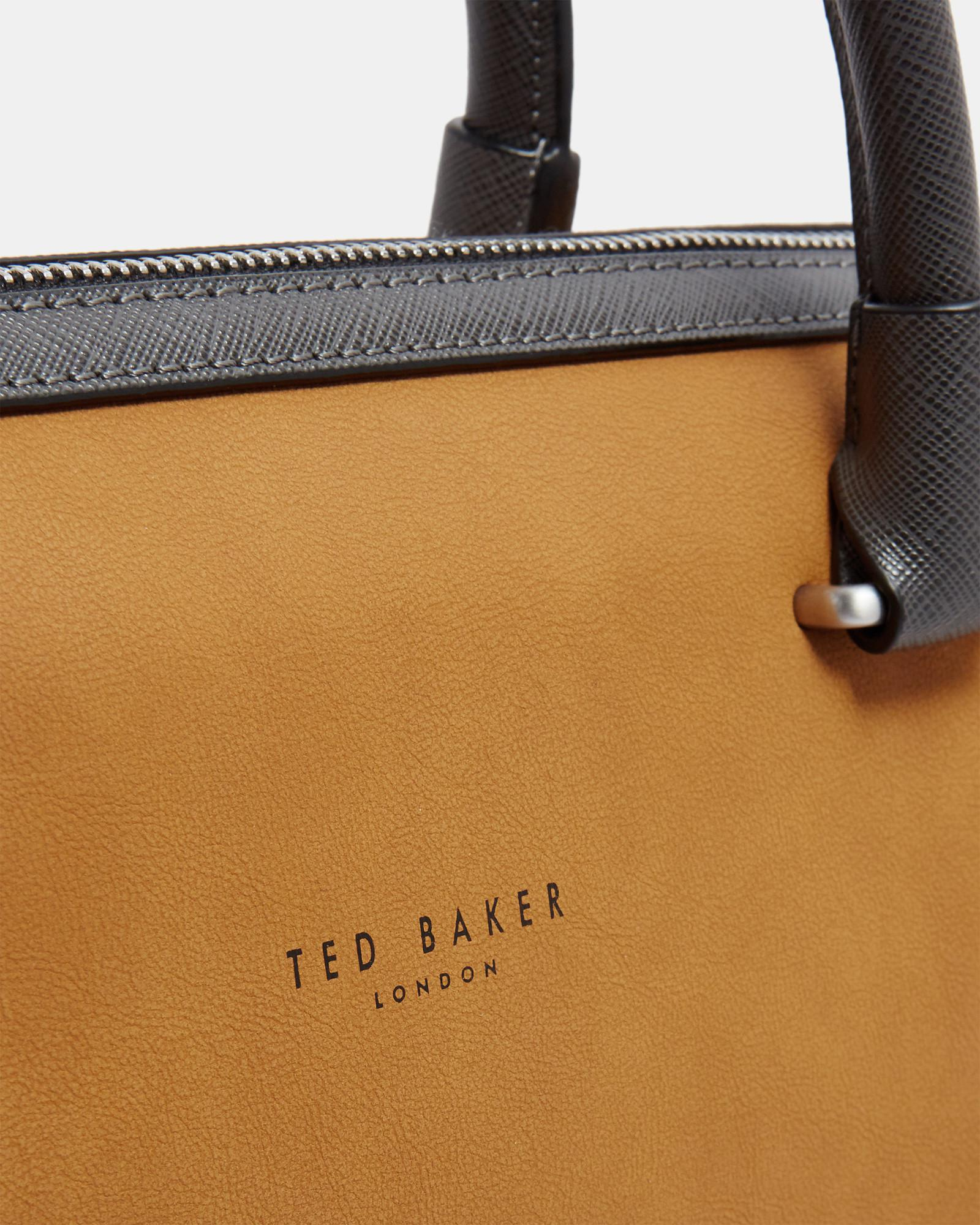 c9fc8a82726a0 Lyst - Ted Baker Faux Nubuck Document Bag in Natural for Men