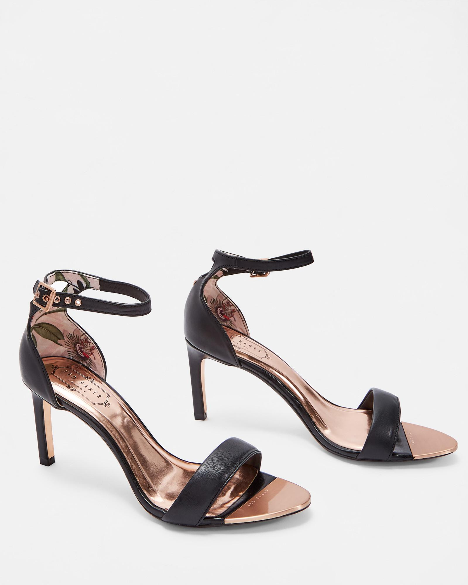 48959006b Ted Baker Straight Heel Sandals in Black - Lyst