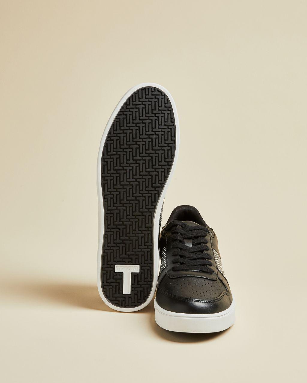 Zapatillas Paneles Efecto Piel De Serpiente Ted Baker de Cuero de color Negro