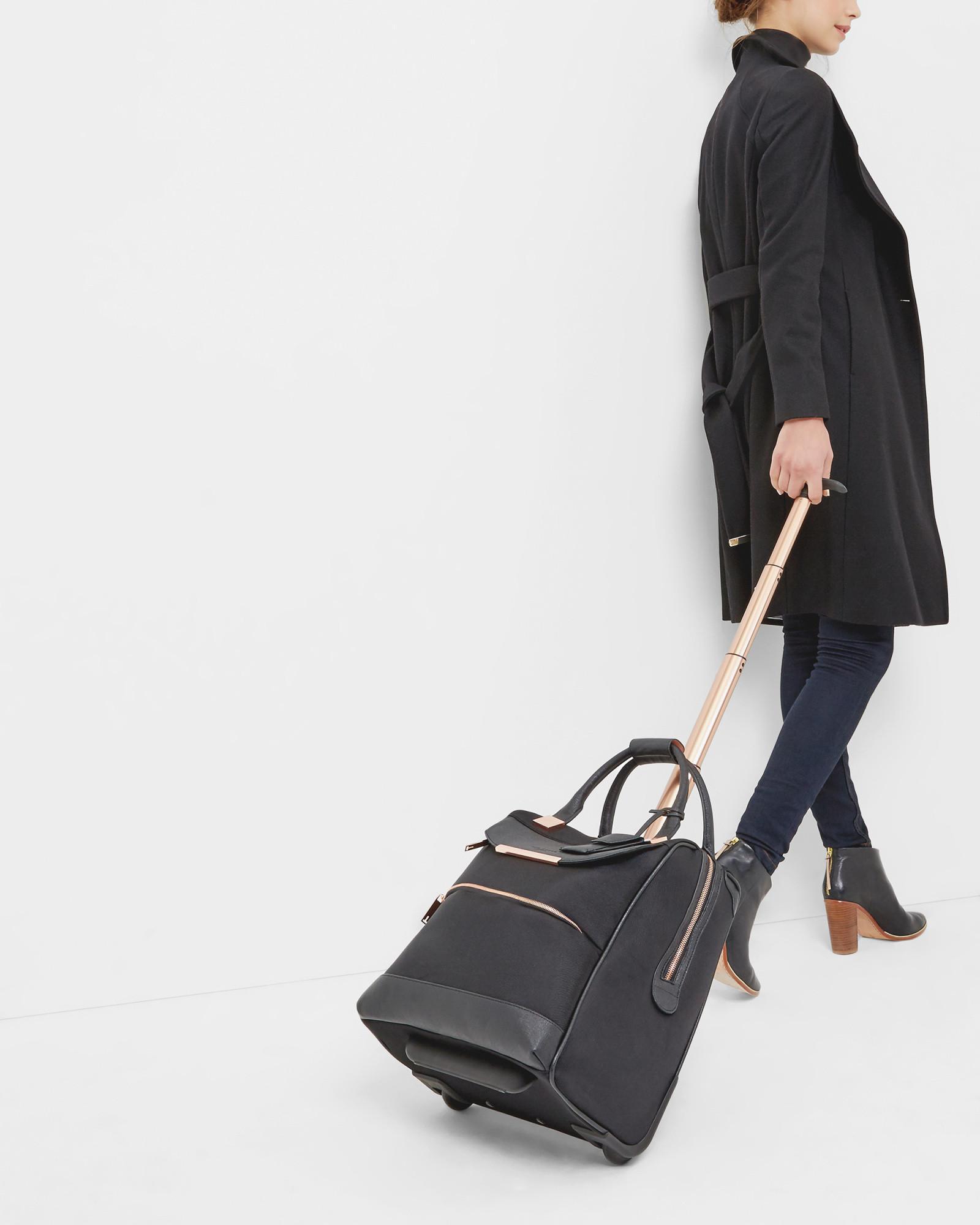 c1a7b9b893d3 Lyst - Ted Baker Metallic Trim Travel Bag in Black
