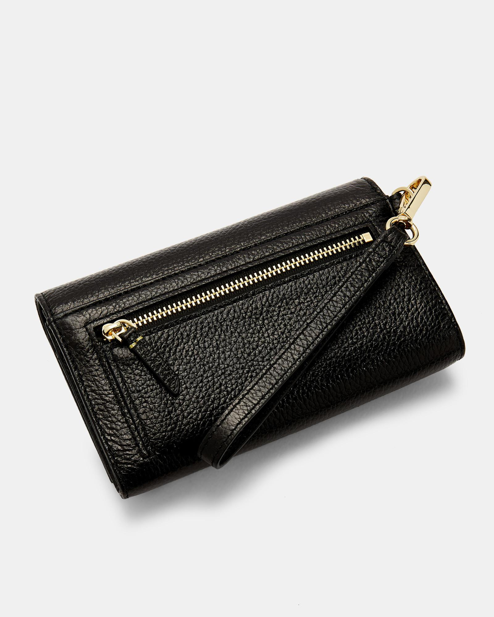 e7f44db3aca45e Lyst - Ted Baker Holli French Leather Wallet - in Black
