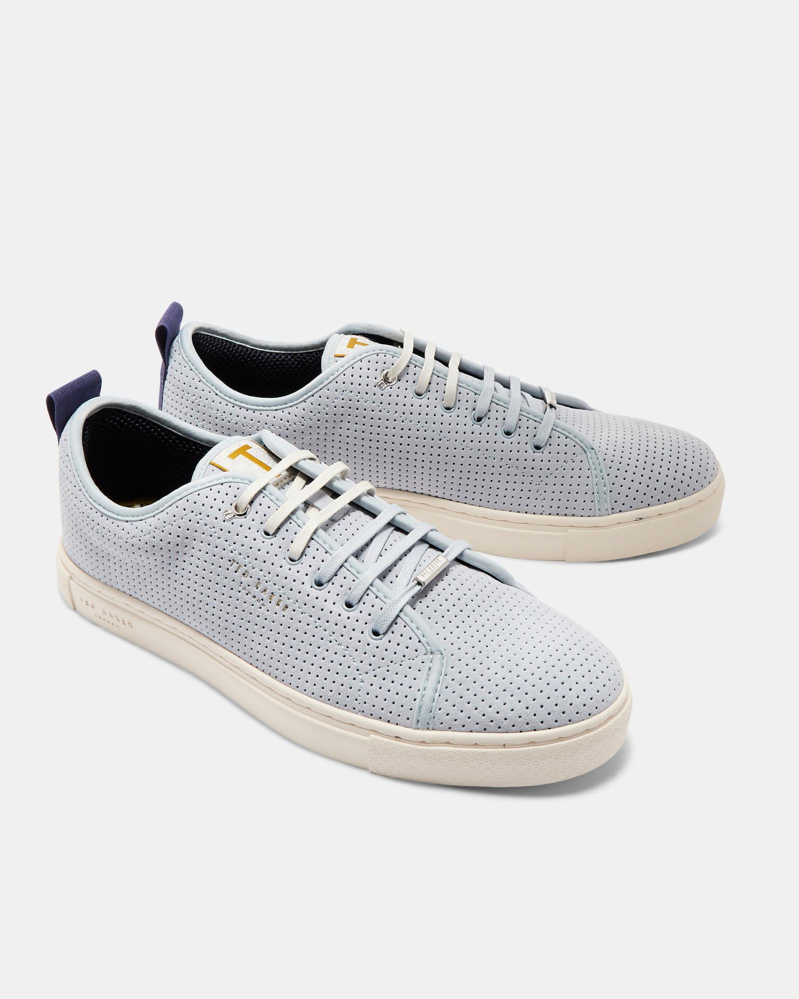 Ted Baker Suede Plimsole Trainers in Light Blue (Blue) for Men