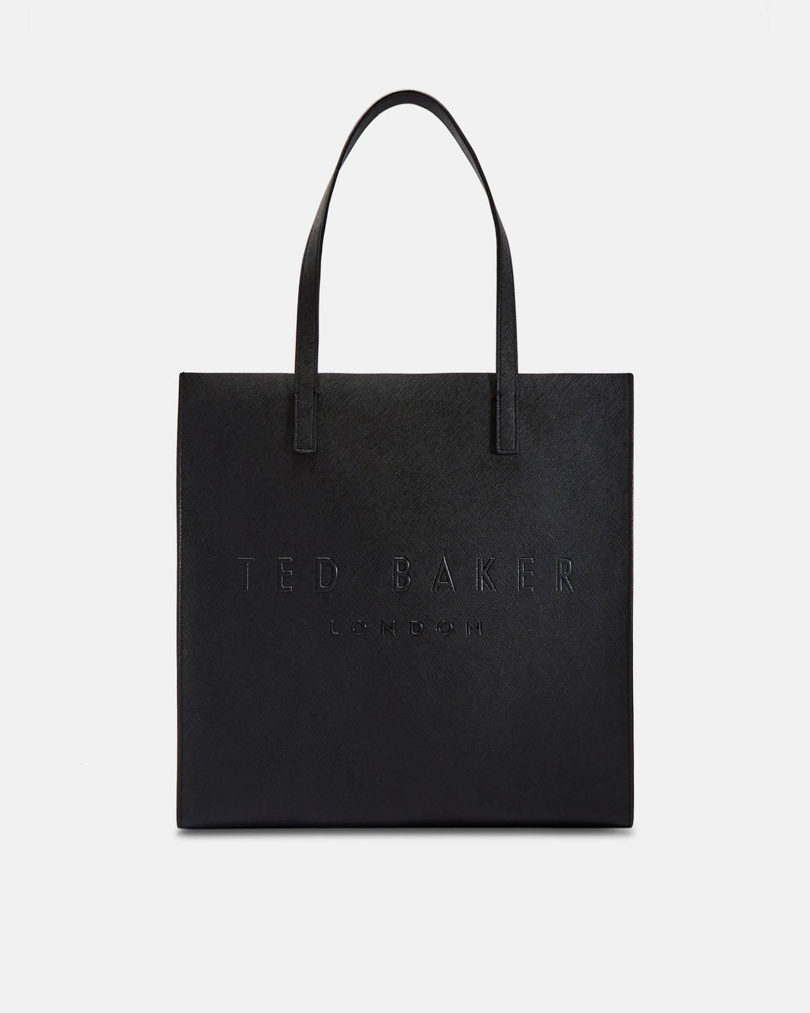 f3aa3926da44ce Ted Baker Crosshatch Large Icon Bag in Black - Lyst