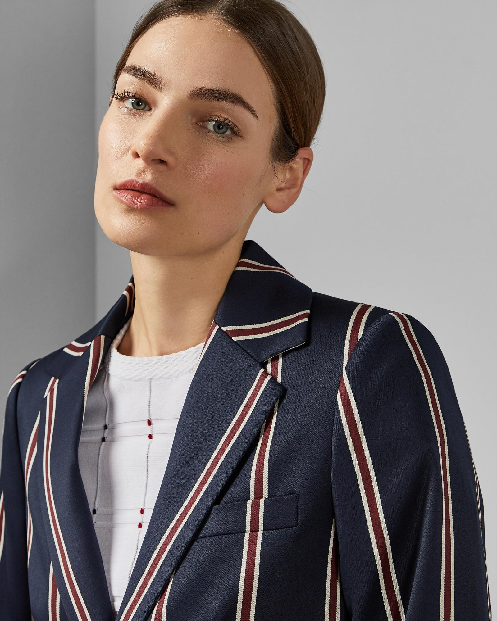 a30bbb417 Lyst - Ted Baker Striped Tailored Jacket in Blue