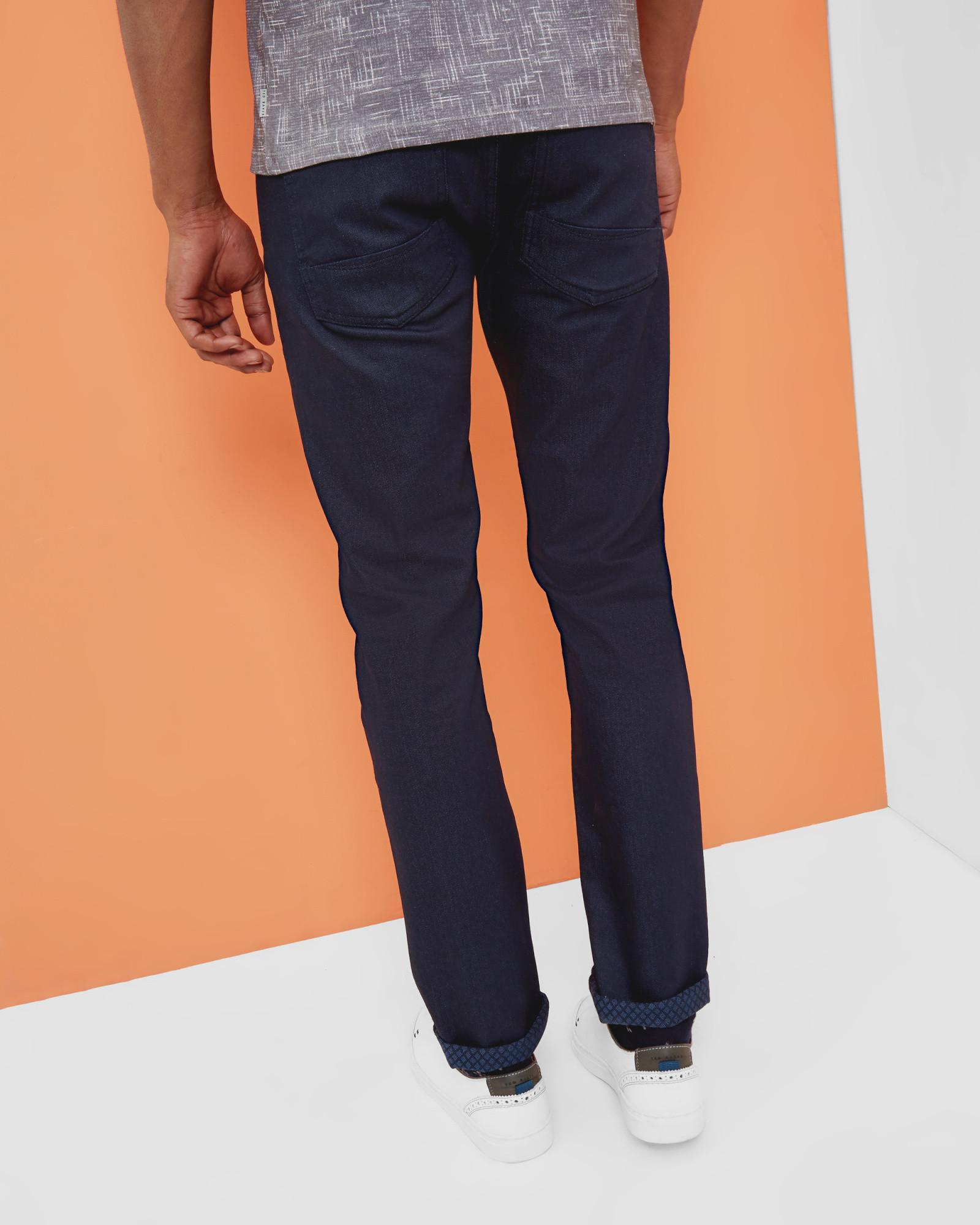 Ted Baker Denim Straight Fit Rinse Wash Jeans in Rinse Denim (Blue) for Men