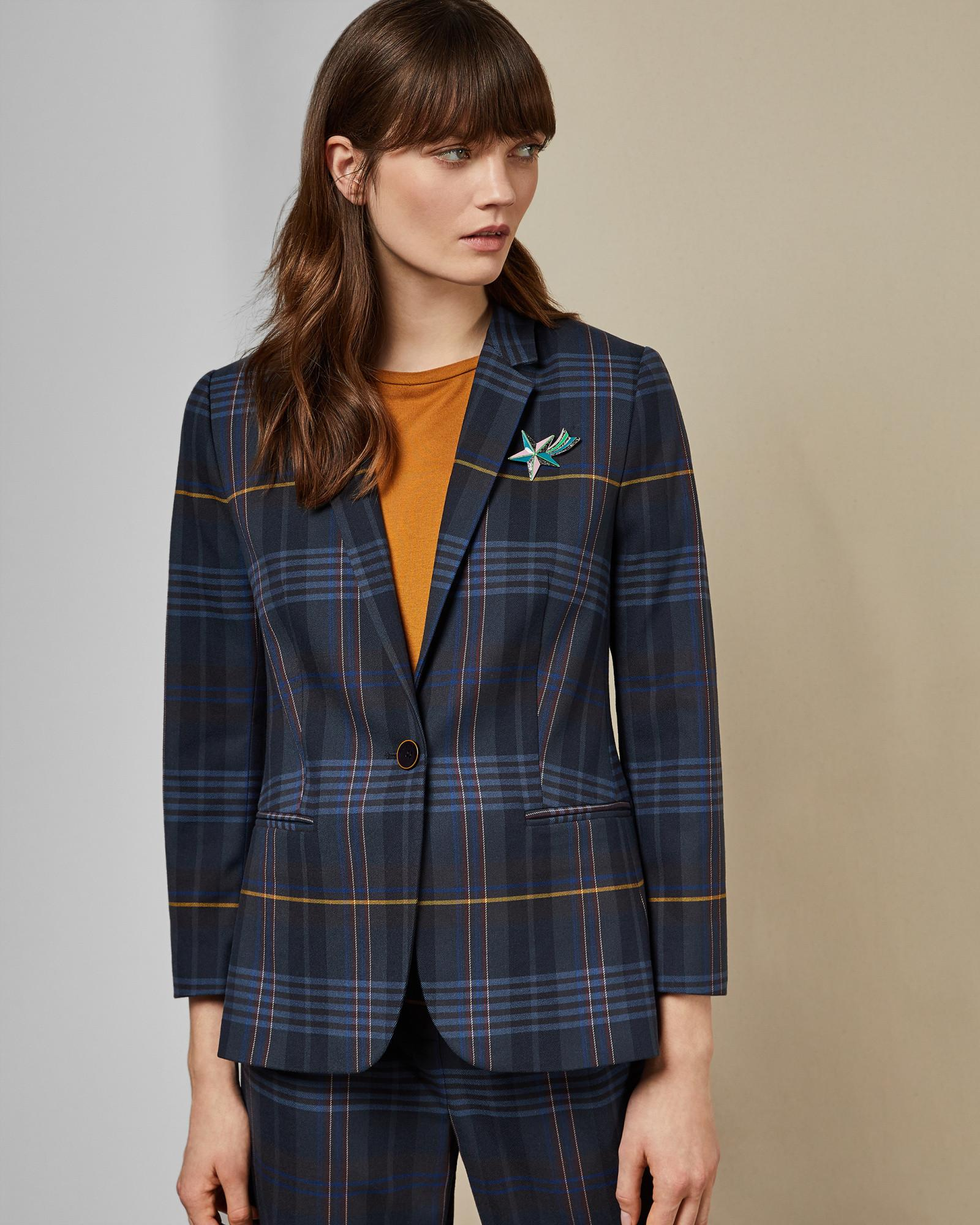 9377ee1fa Ted Baker Robot Check Blazer in Blue - Lyst