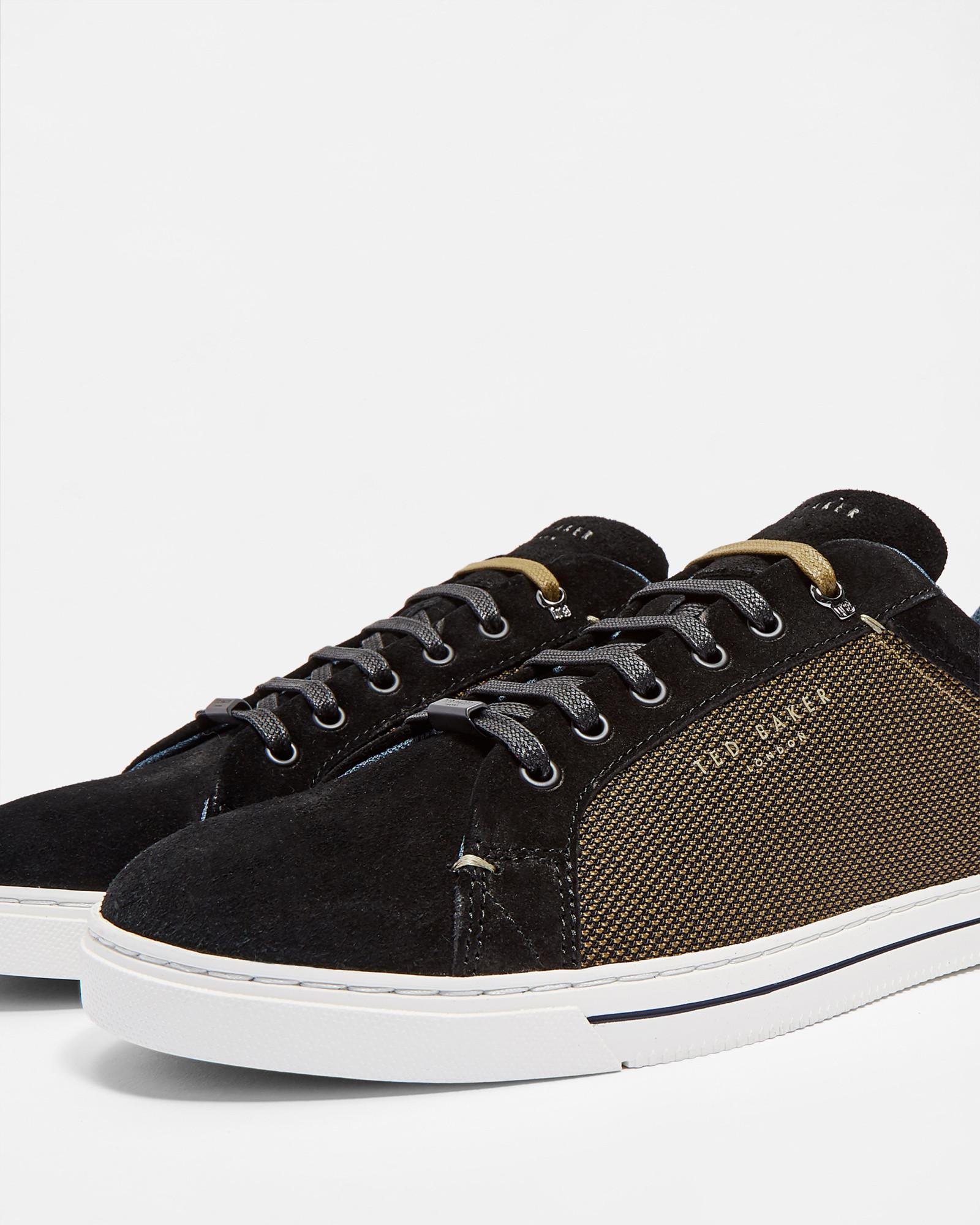 510e32706b0a Lyst - Ted Baker Classic Derby Suede Trainers in Black for Men