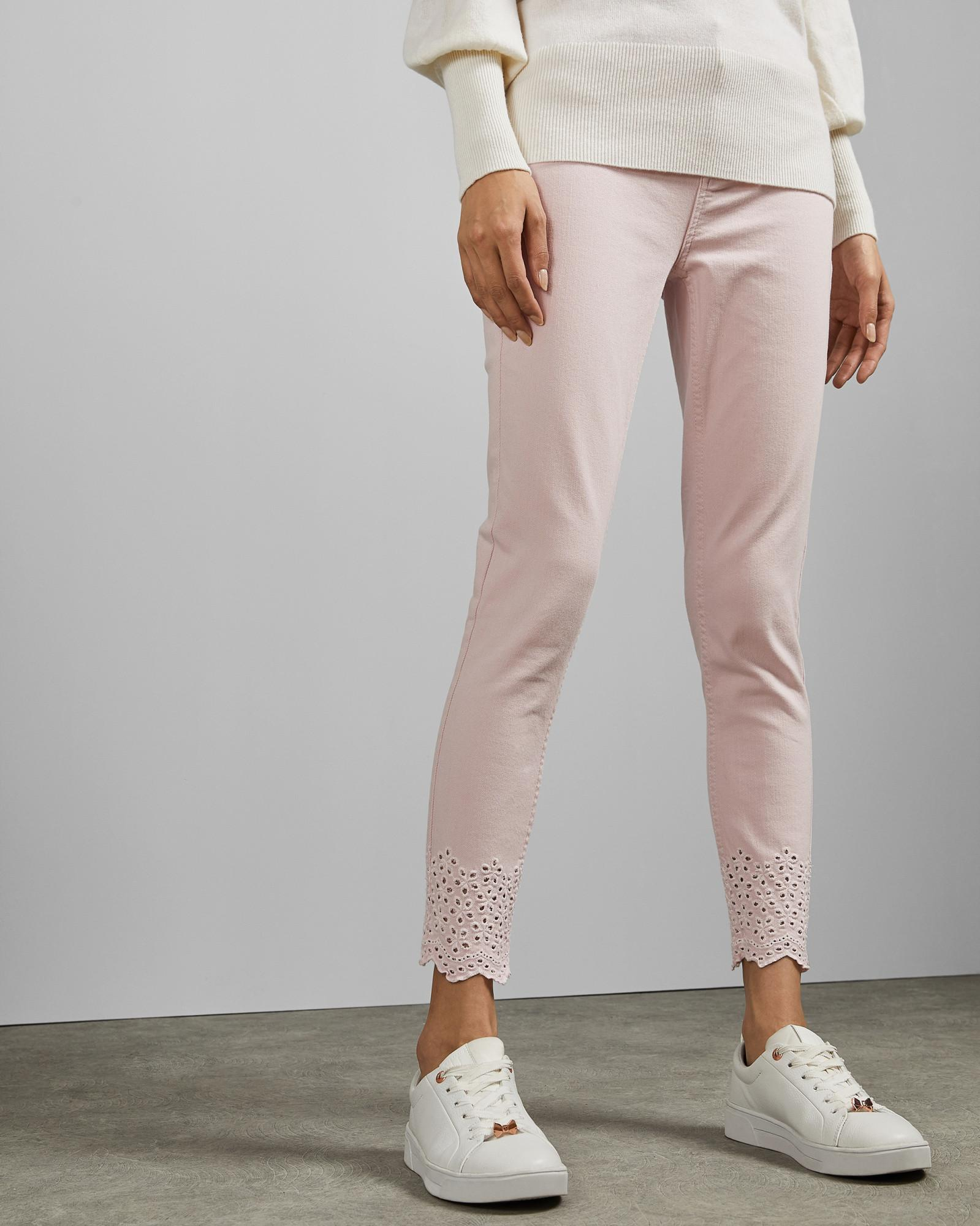 d488f4ec0 Lyst - Ted Baker Embroidered Jeans in Pink