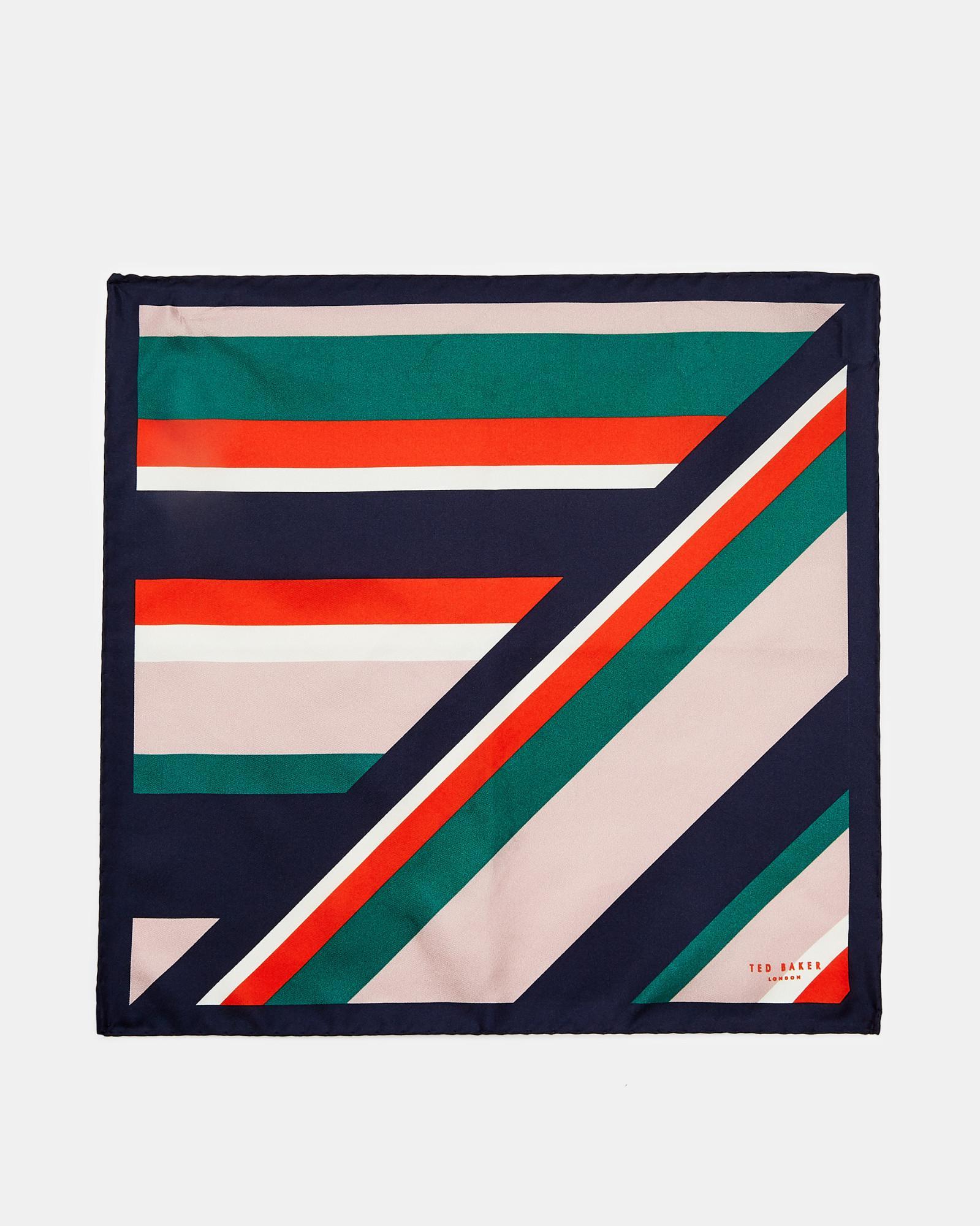 af08f25c1f68 Lyst - Ted Baker Stripe Silk Pocket Square in Blue for Men