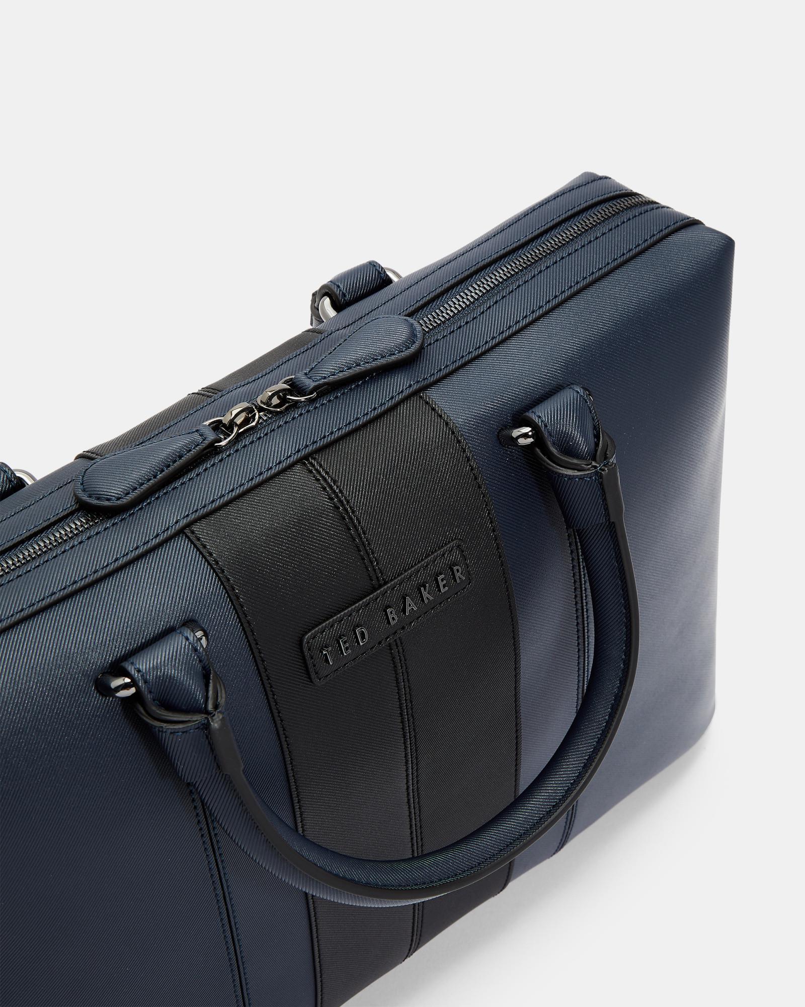 Lyst - Ted Baker Twill Document Bag in Blue for Men 170f8867da296