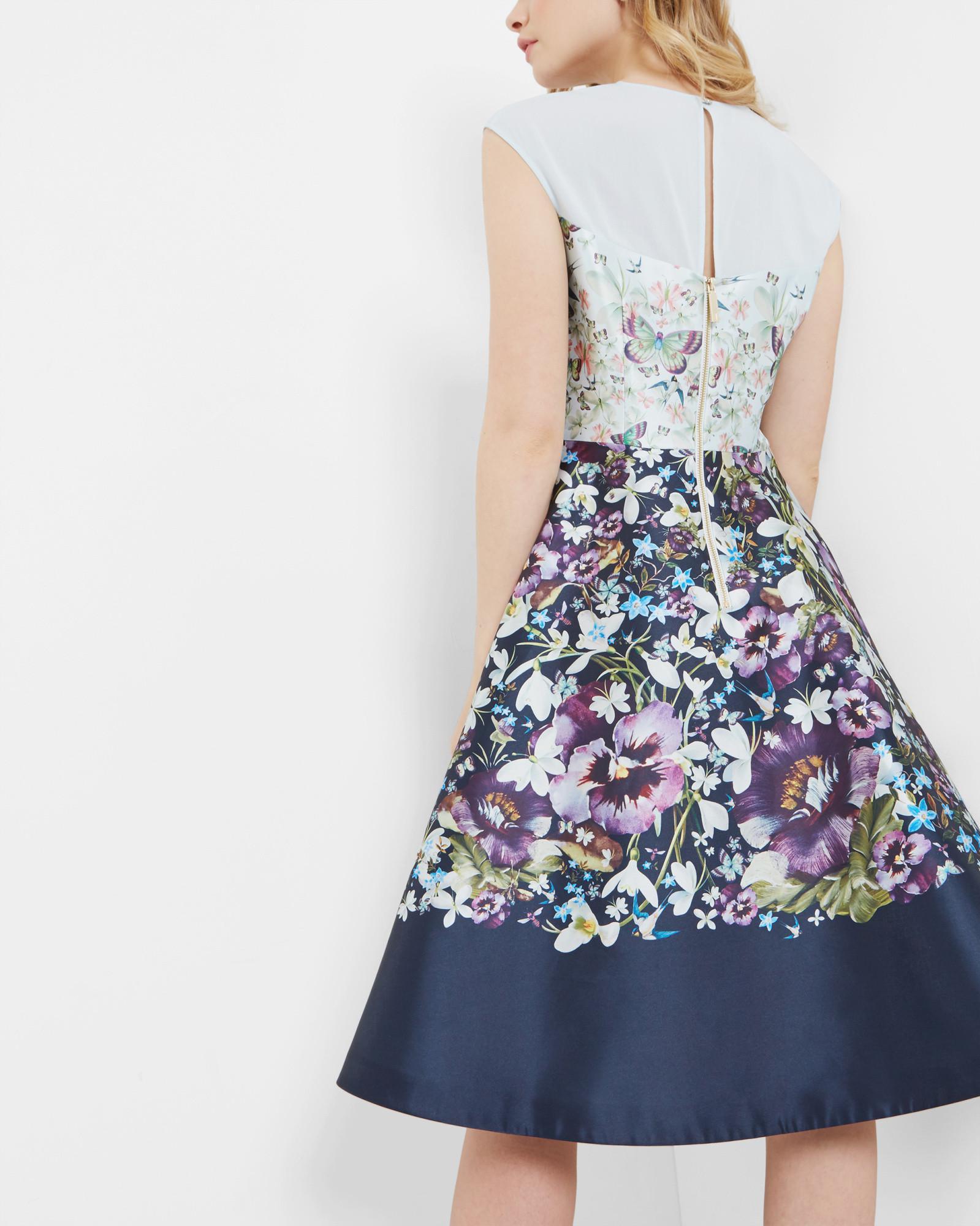 9926db221c178f Ted Baker Entangled Enchantment Midi Mesh Dress in Blue - Lyst