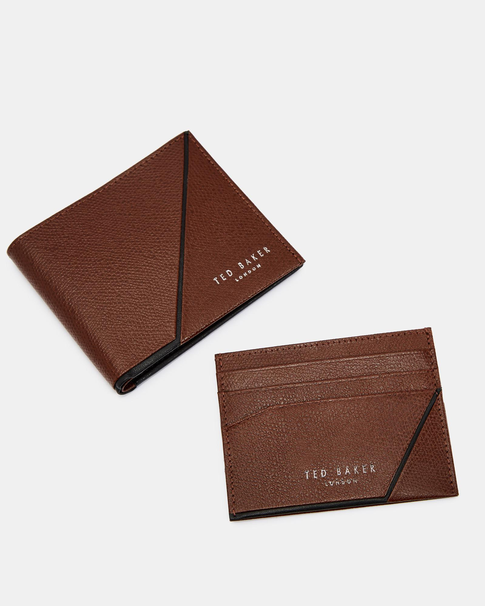 2ca3aa5ea Ted Baker Leather Wallet And Cardholder Gift Set in Brown for Men - Lyst