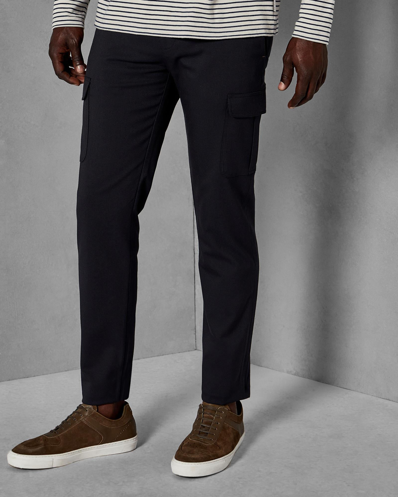 Ted Baker Synthetic Slim Utility Pocket Trousers in Navy (Blue) for Men