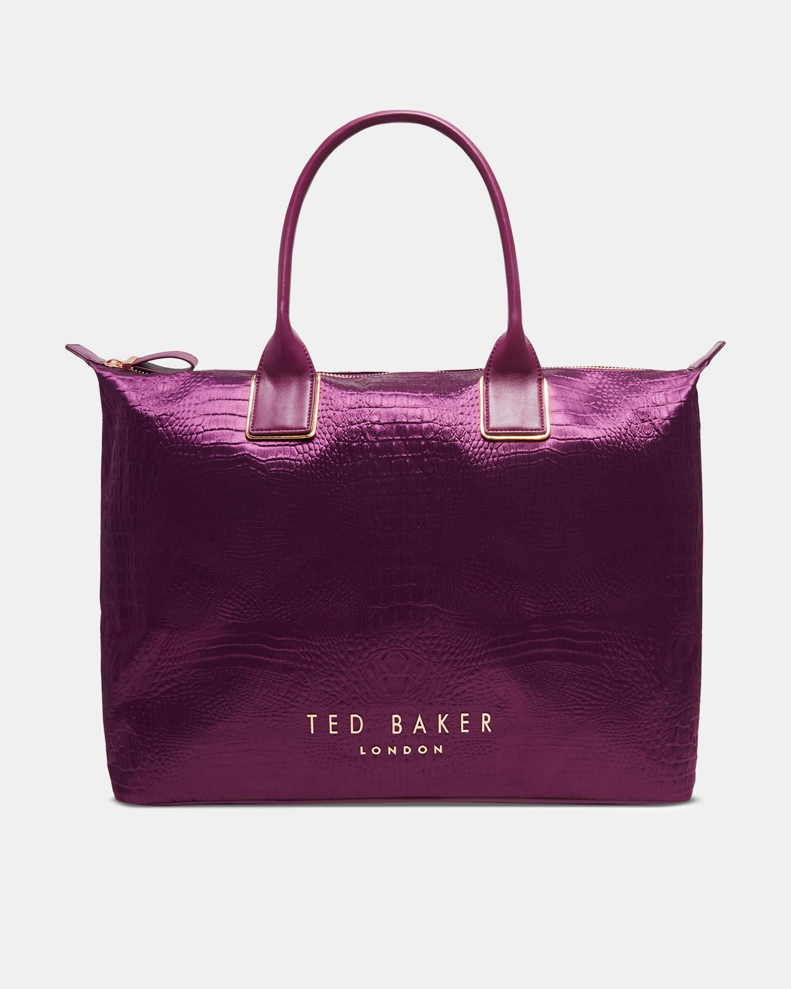 a6e93726654 Lyst - Ted Baker Exotic Large Tote Bag in Purple