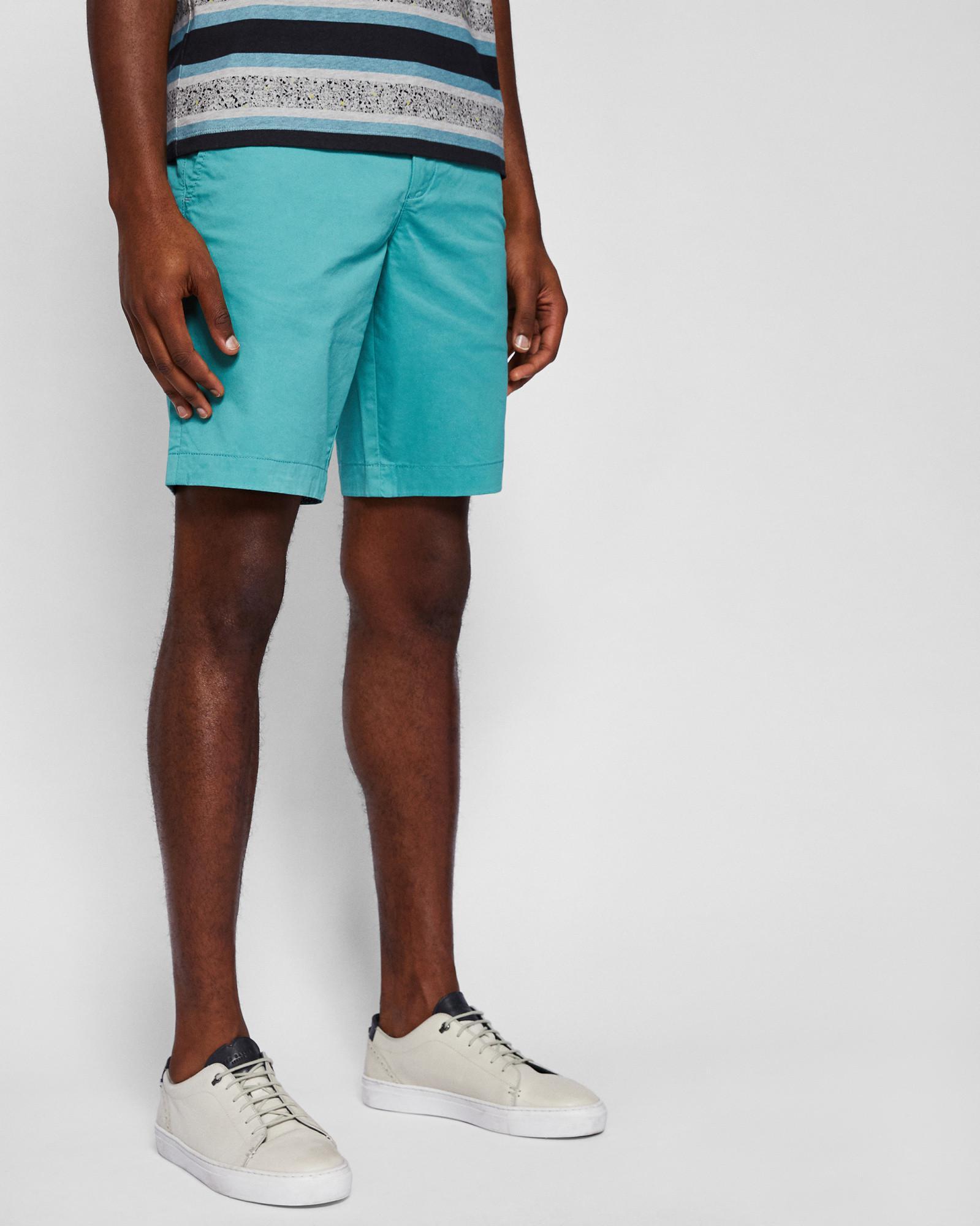 Slim Chino Shorts In Aqua - Pale green Ted Baker Whole World Shipping R6mKu