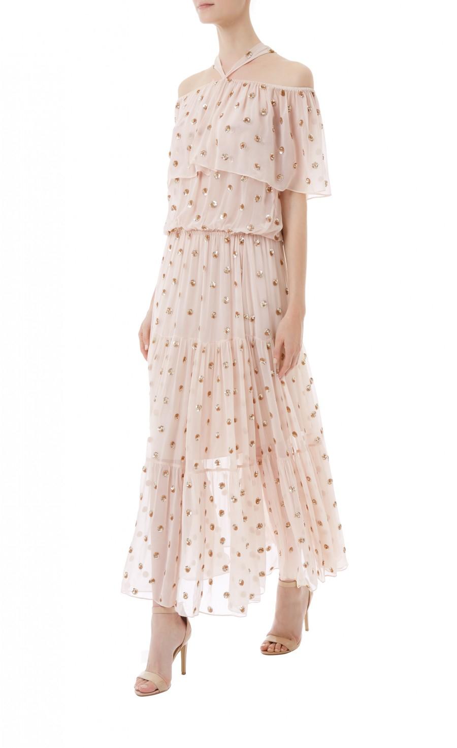 Lyst Temperley London Jolie Polka Dot Dress Clothing Joie Midi Nude M