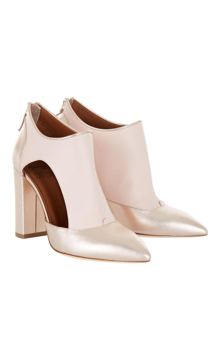 Temperley London Leather Elaine Boot in Nude (Natural)