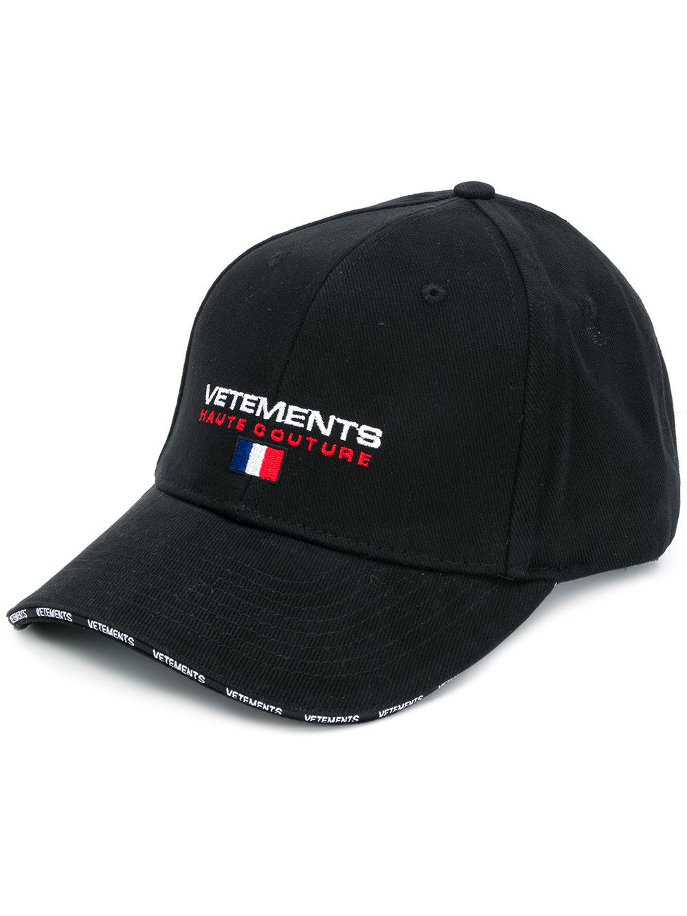 Vetements Logo Cotton Cap in Black for Men - Lyst afac0779fd85