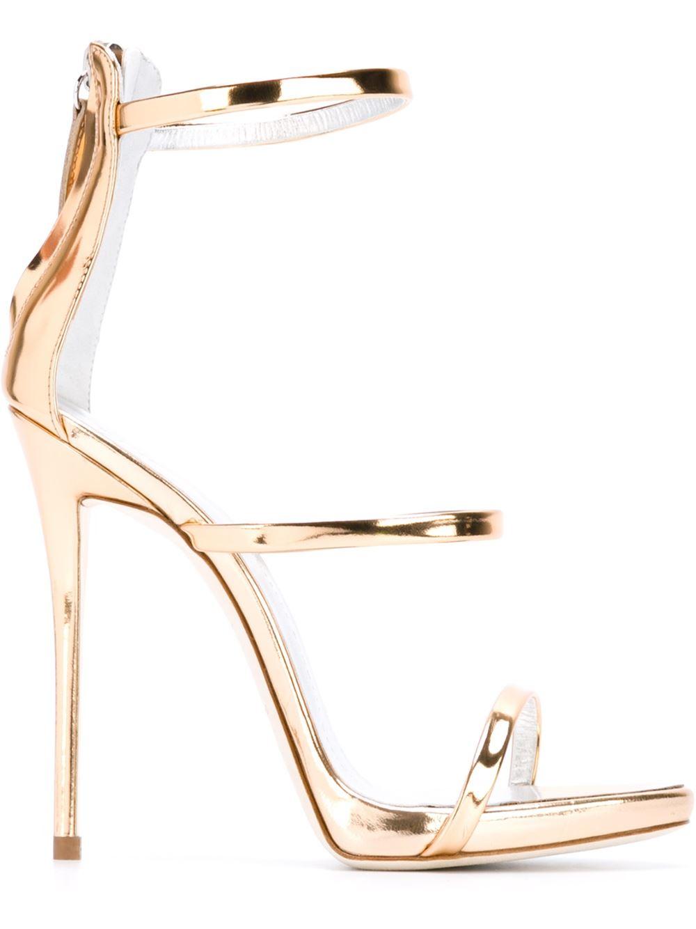 384ca76ef874bf Lyst - Giuseppe Zanotti  harmony  Sandals in Metallic