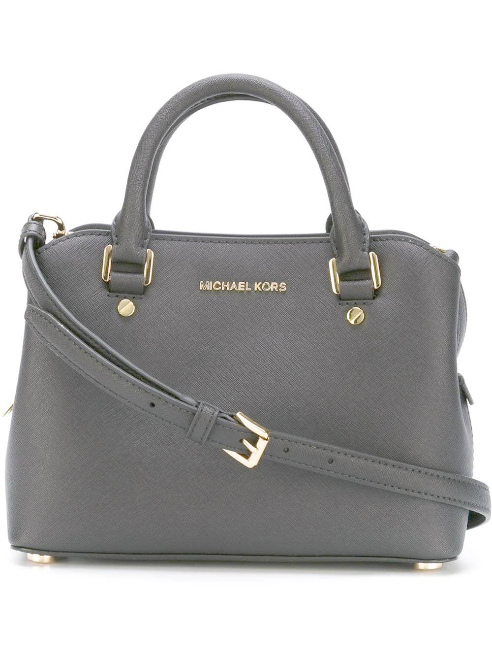michael michael kors savannah small satchel in black lyst. Black Bedroom Furniture Sets. Home Design Ideas