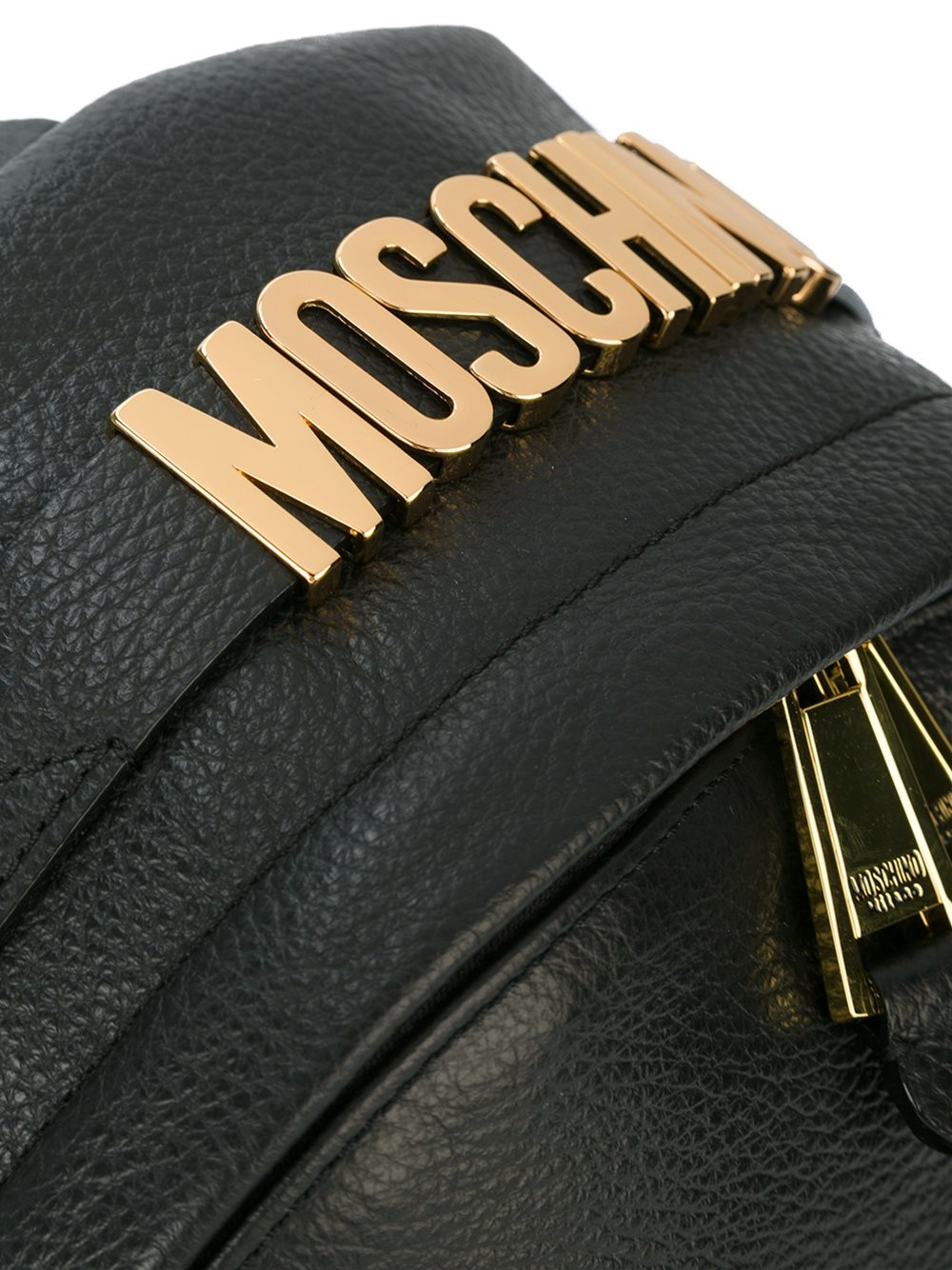 Moschino Leather Backpack With Logo for Men