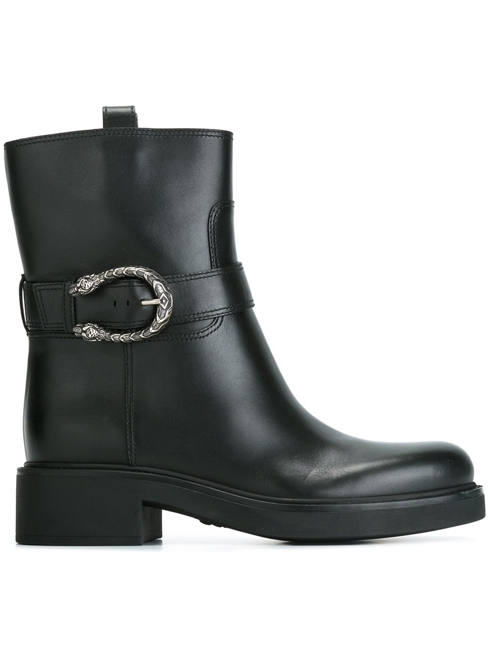 Gucci Dionysus Leather Moto Boots In Black Lyst