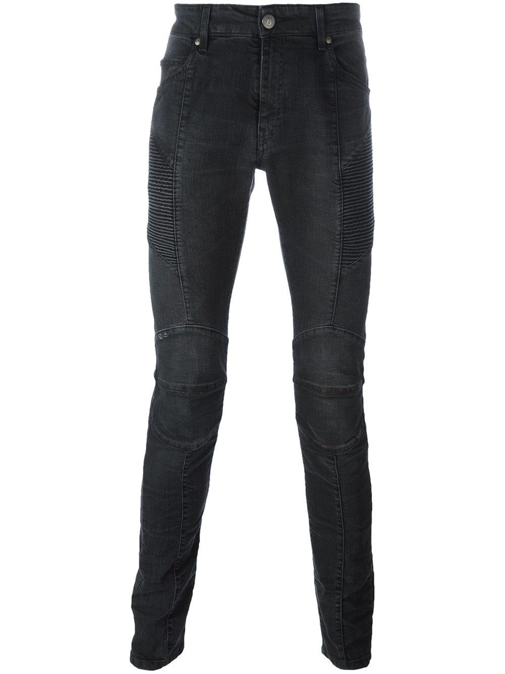 balmain skinny jeans in blue for men lyst. Black Bedroom Furniture Sets. Home Design Ideas