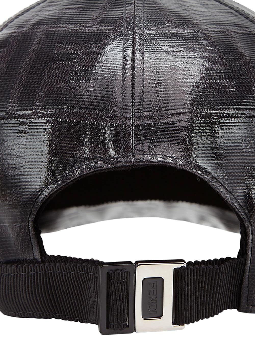 db0f960cd5959 Fendi - Black Cotton Baseball Hat for Men - Lyst. View fullscreen