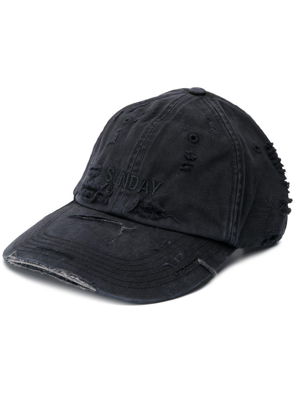 10d76bfa Vetements Friday Cotton Cap in Black - Lyst